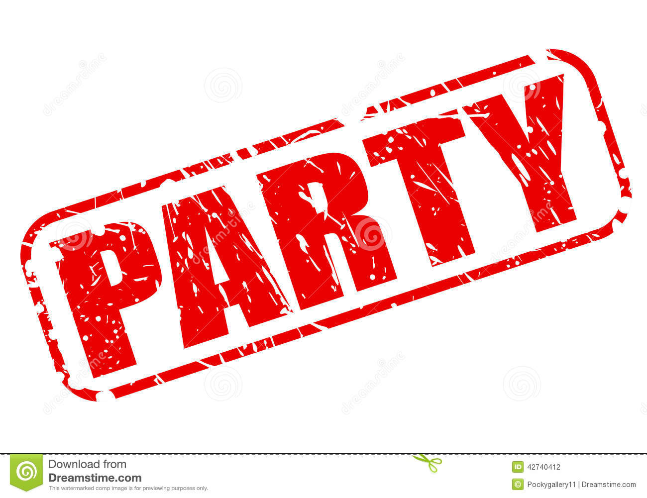 Party Red Stamp Text Stock Vector - Image: 42740412