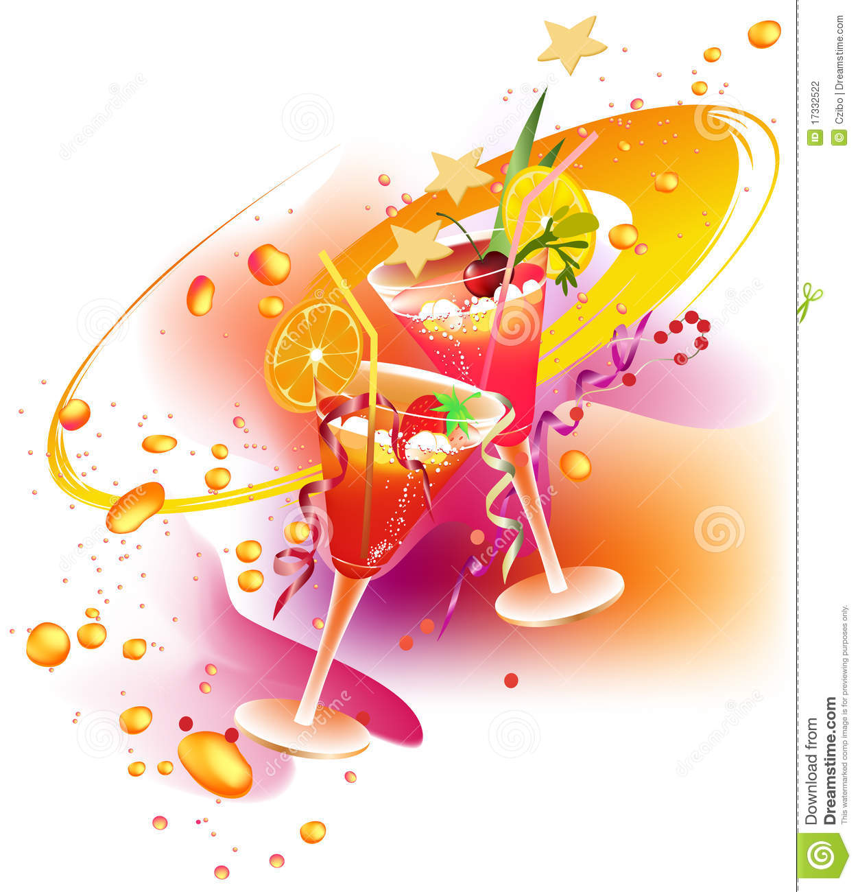 Party\'s drinks stock vector. Illustration of illustration - 17332522
