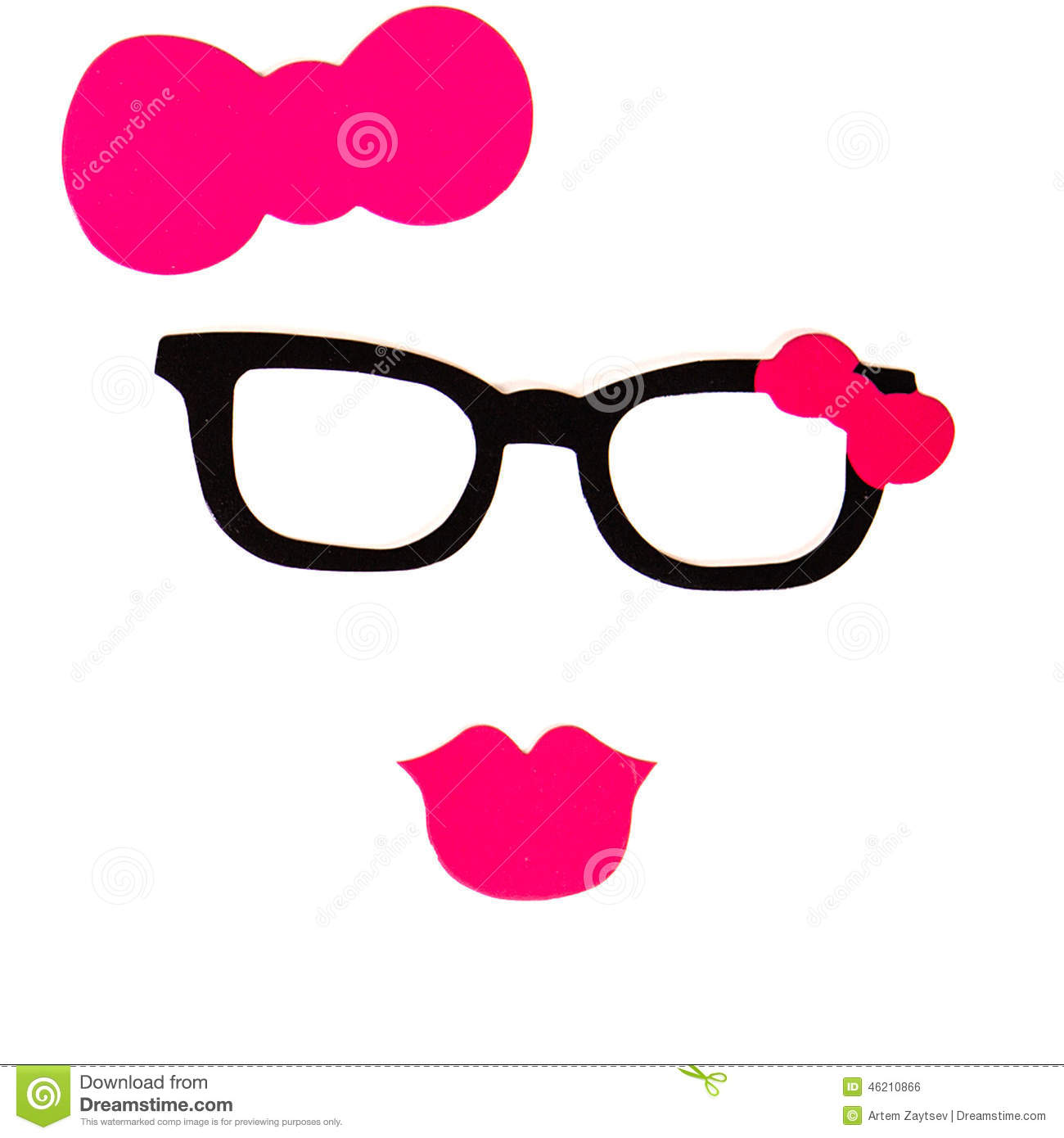 party set glasses hats lips mustaches masks for design