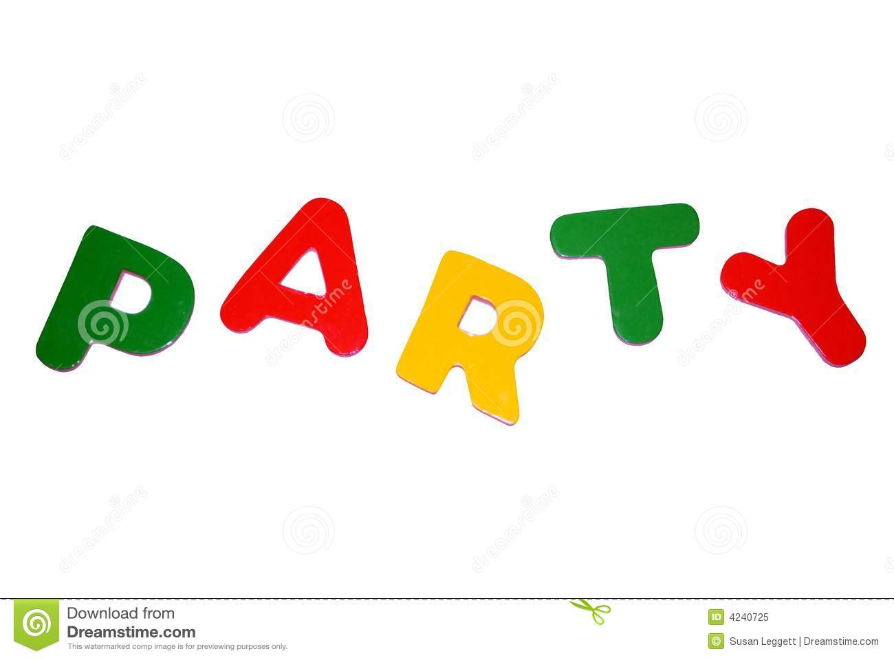 party sign stock image image of party sign letters 4240725