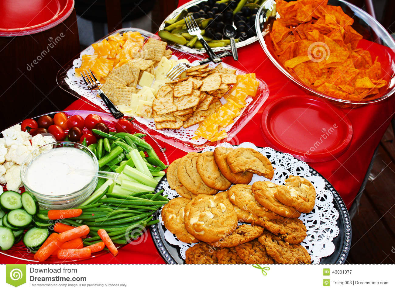 the party snacks stock image image of drink table food 43001077