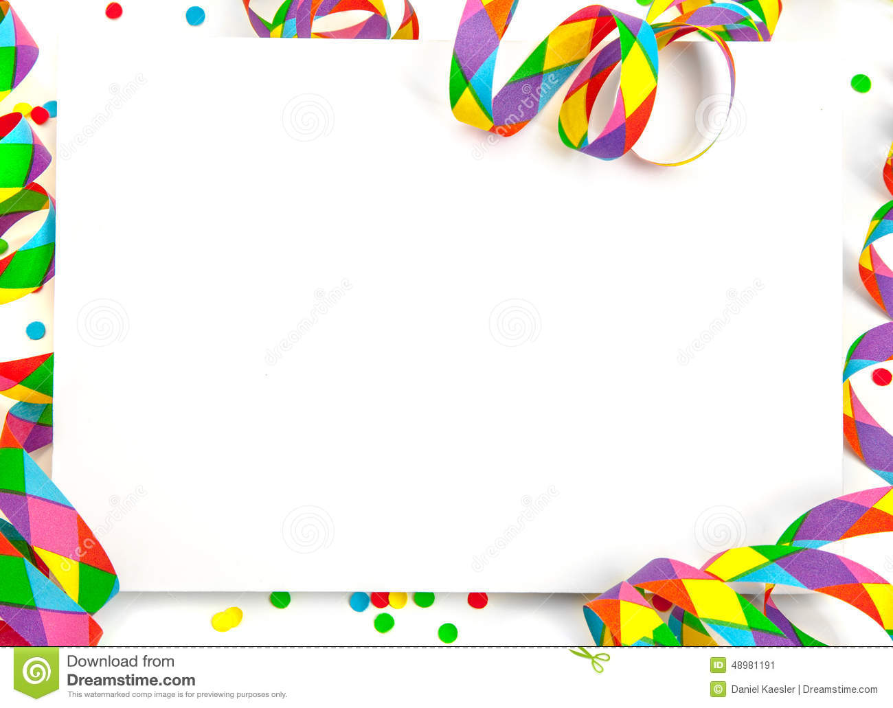 party presentation template isolated stock photo image 48984236 party streamer presentation template stock image