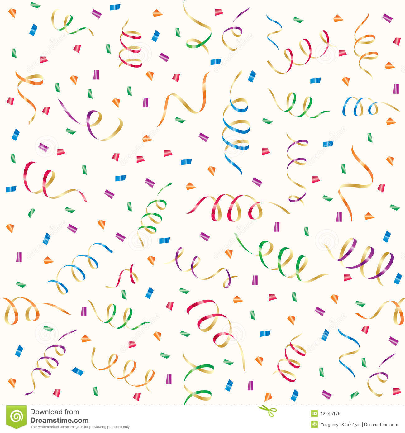 Party Streamers And Multicolored Confetti Royalty Free Stock Image ...