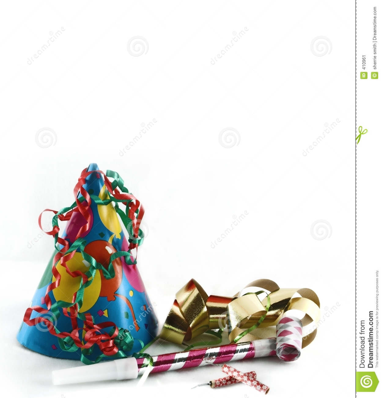 Party Stuff Card Stock Image - Image: 410961