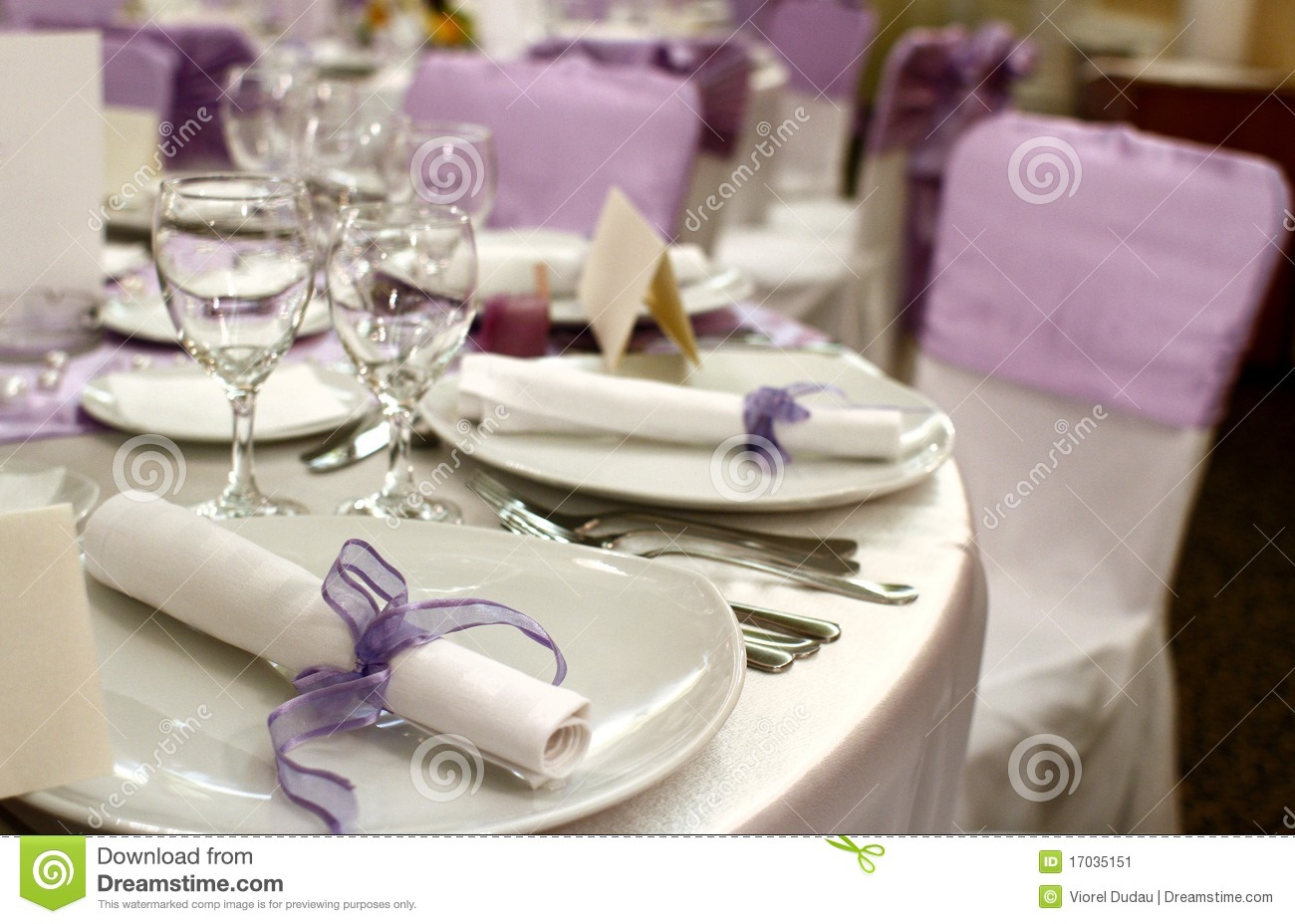 Party table setting stock image image 17035151 - Table setting for a party ...