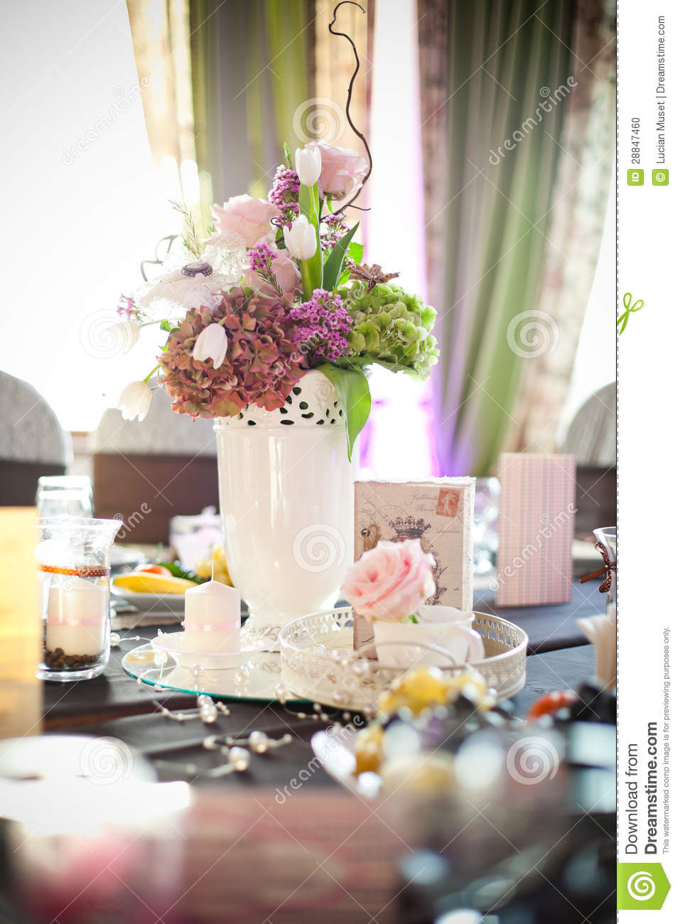 Party table setting stock photo image 28847460 - Table setting for a party ...