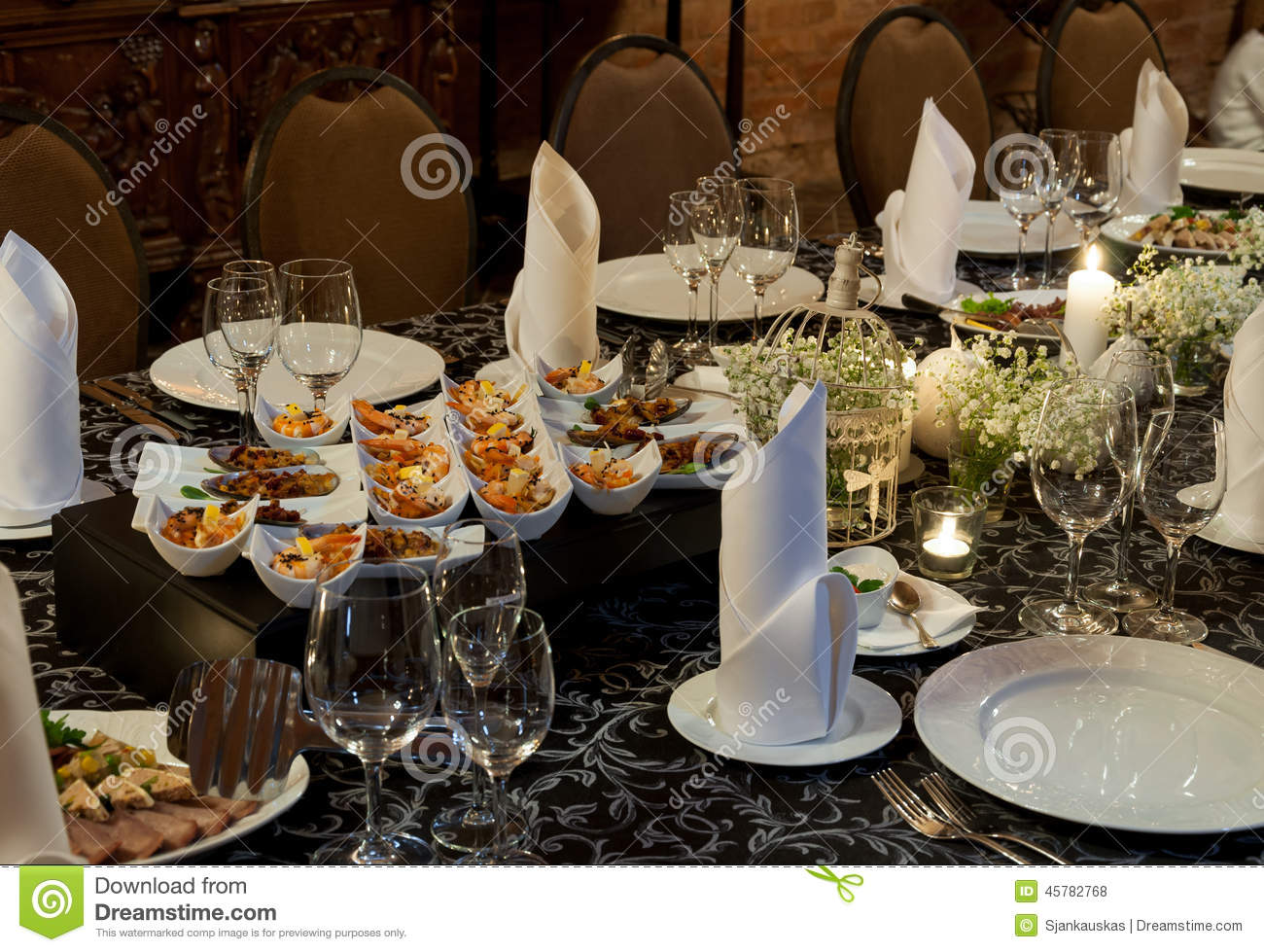 Party Table Setting Stock Photo Image 45782768