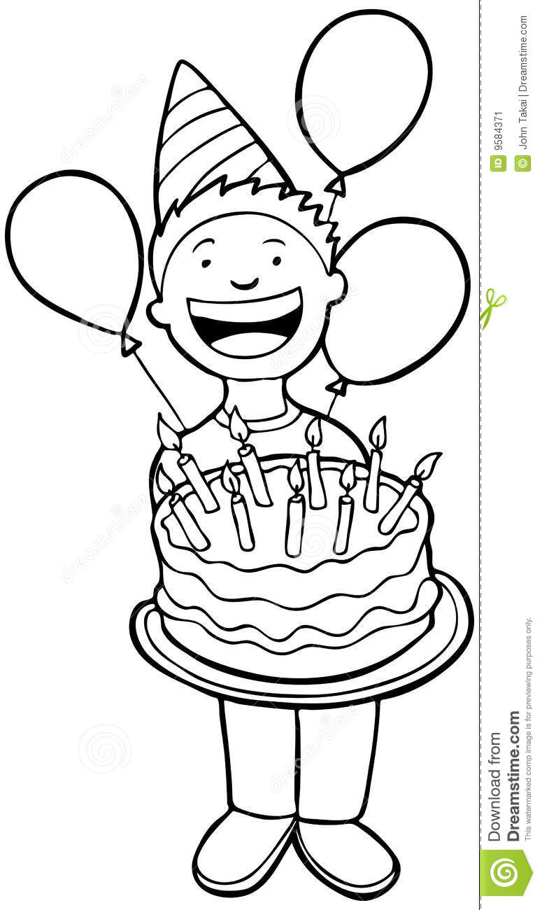 clip art black and white party clipart