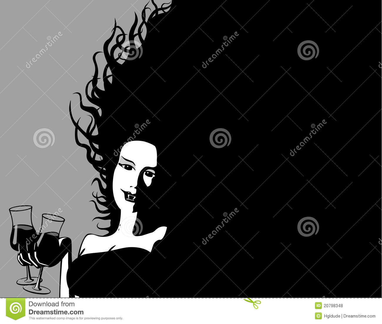 Download Party Vampire Shares A Drink Stock Vector - Illustration of beautiful, horror: 20798348
