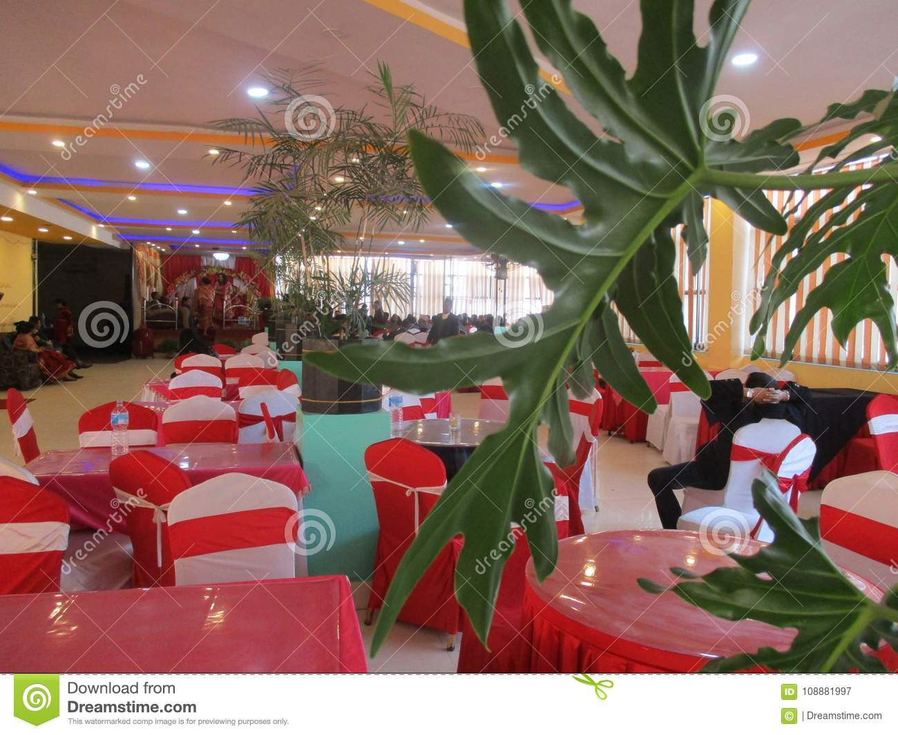 Party venue table and chairs editorial photography image of venu party venue table and chairs junglespirit Gallery