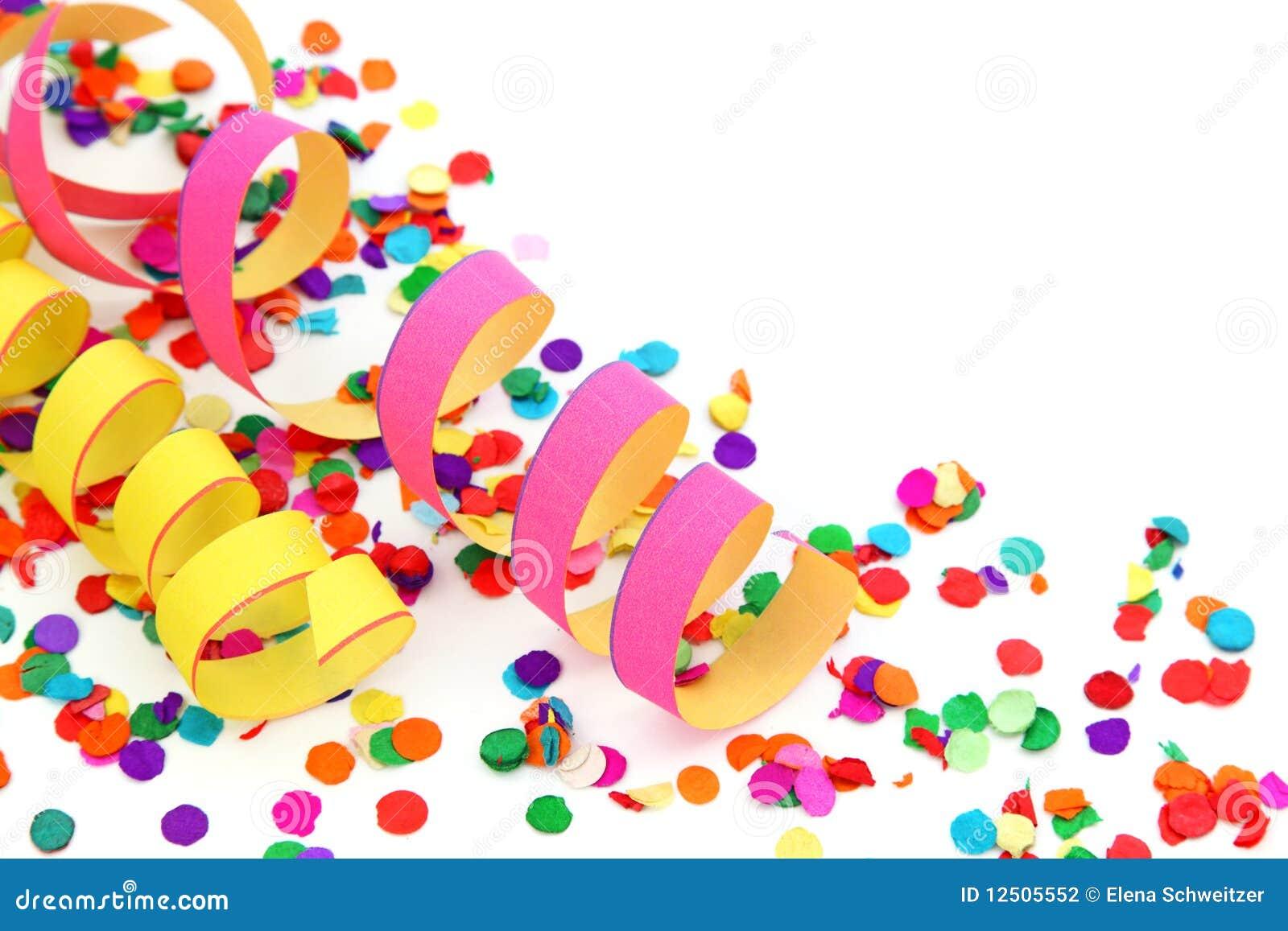 Partydekoration stockfoto. Bild von nahaufnahme, confetti - 12505552
