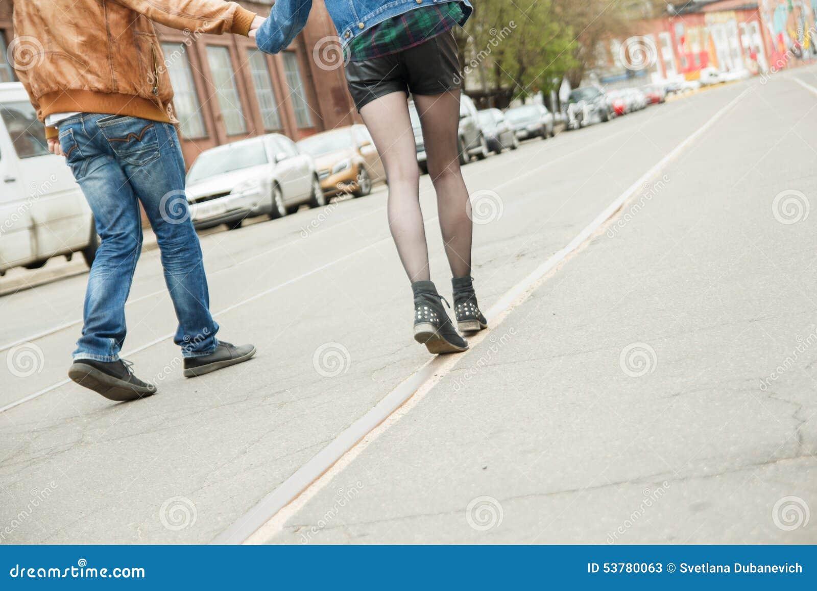 Pary odprowadzenie na ulicie