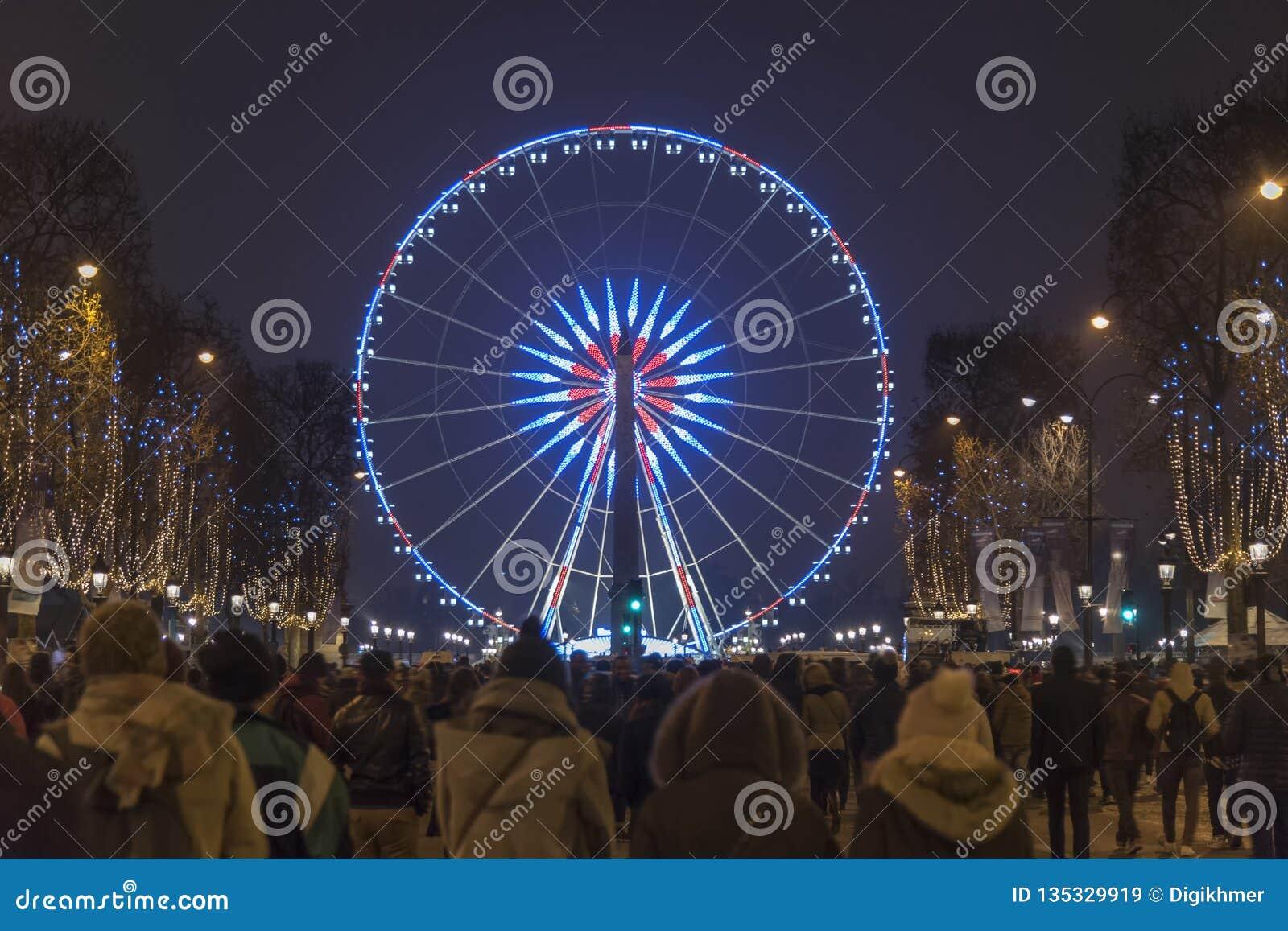Paryski czempionu Elysee Ferris koło