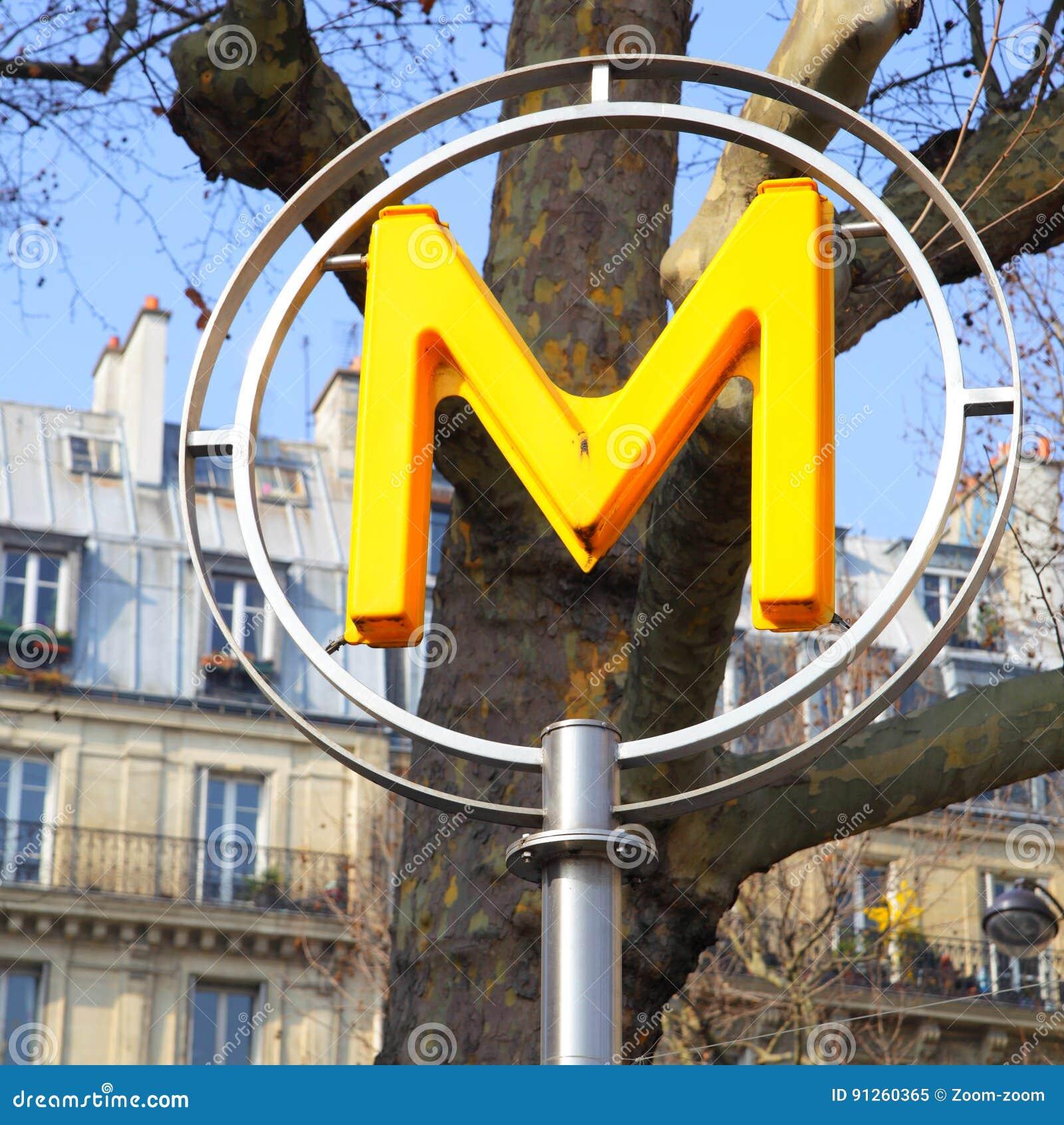 Paryski metro znak