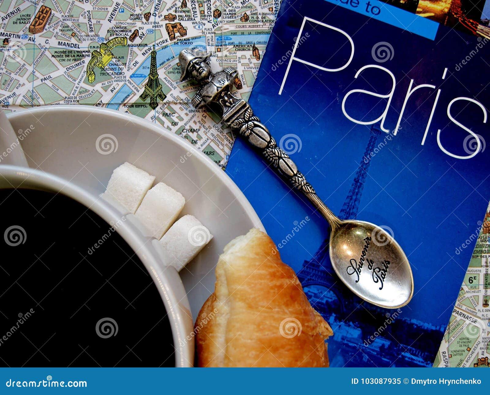 Paryski temat Francja symboli/lów układu płaski tło