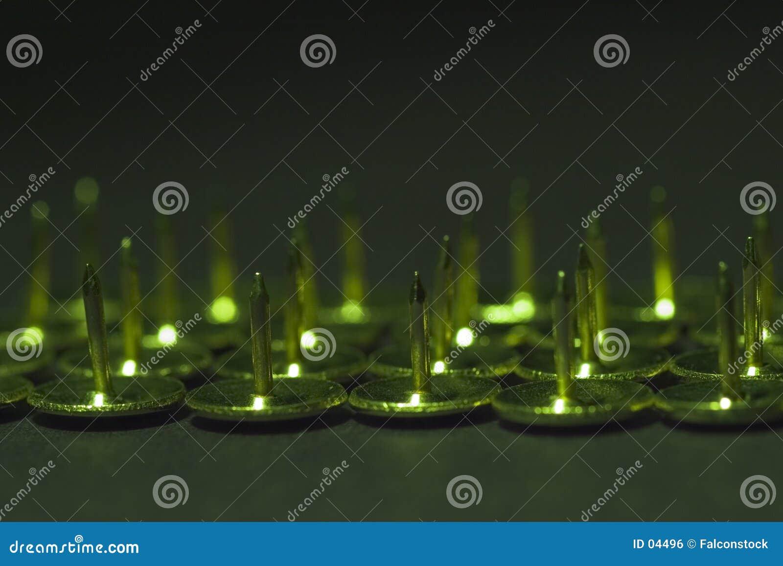 Pasadores en verde