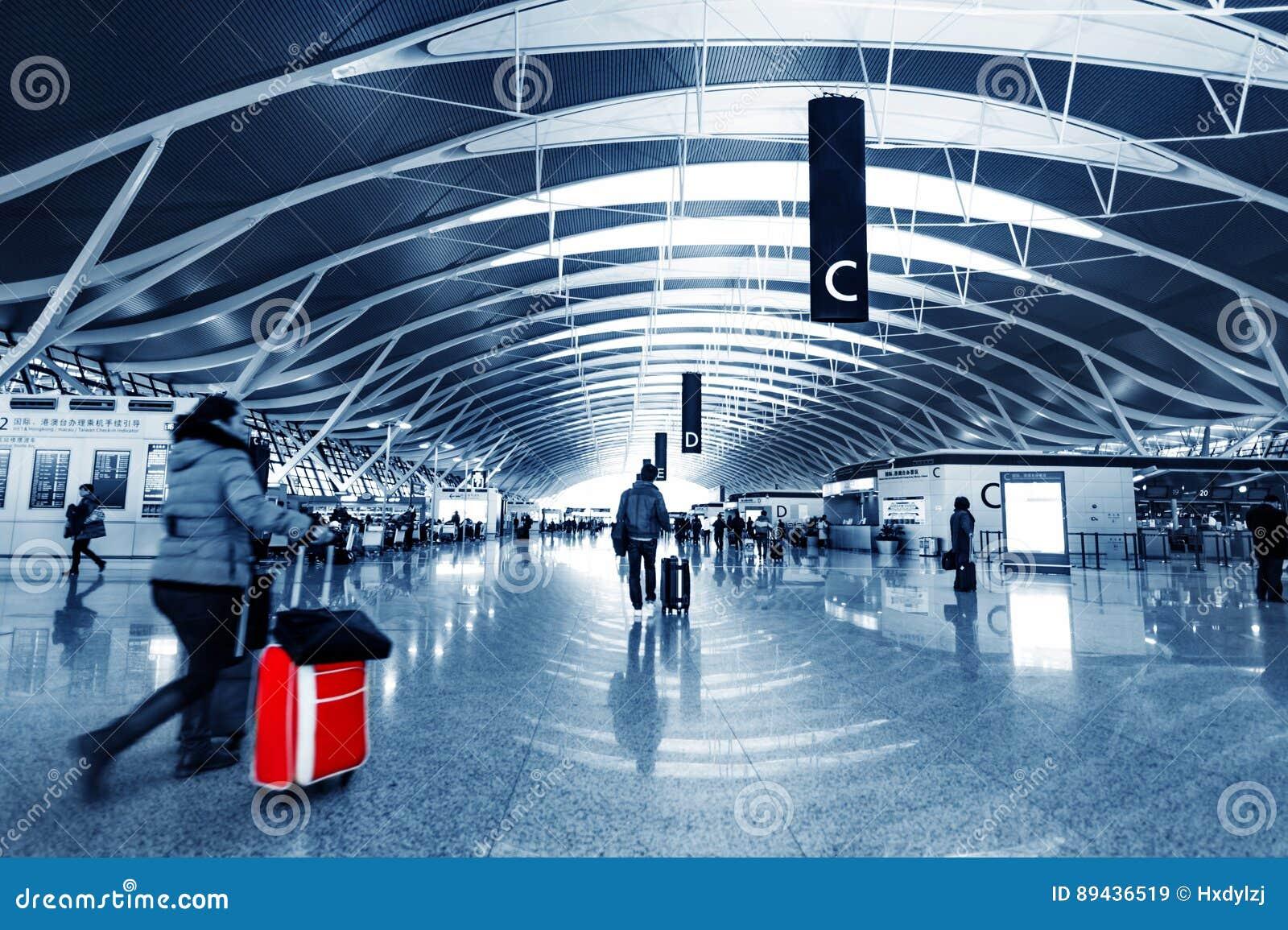 Pasajero en el pudong airport