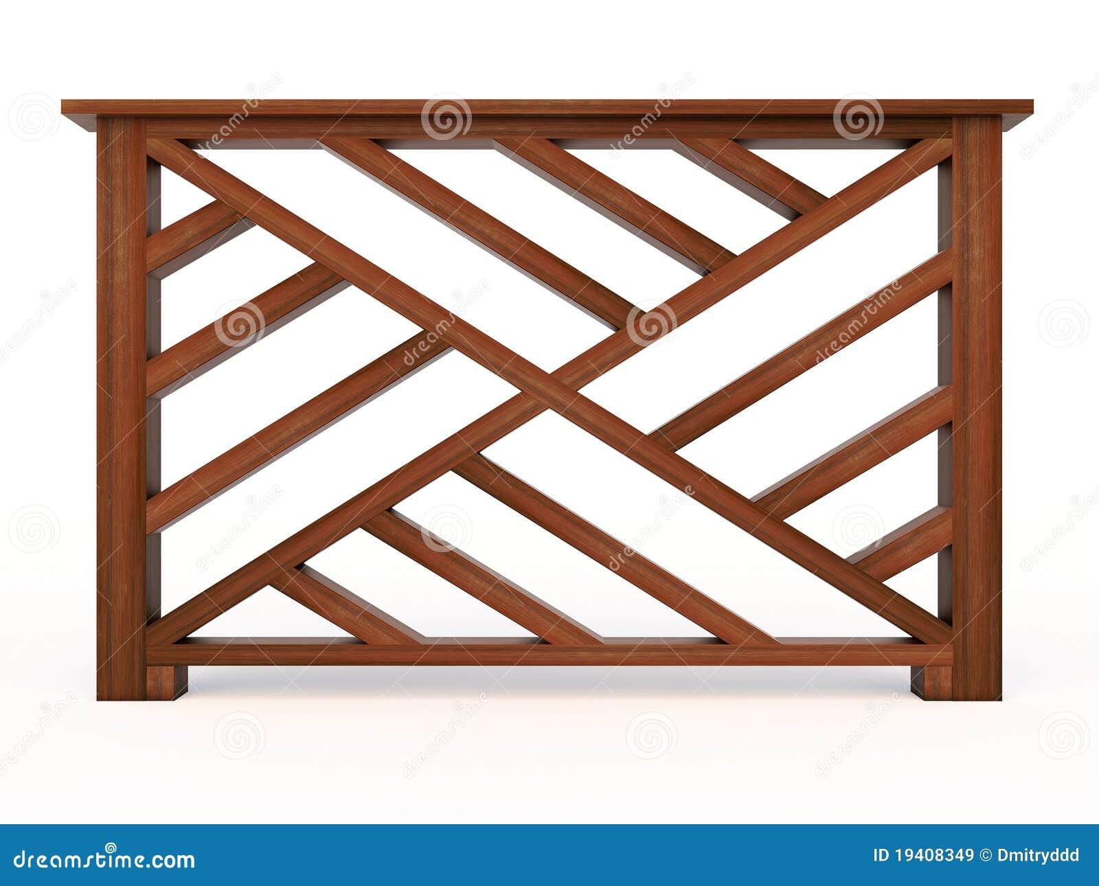 Pasamano de madera del dise o con balaustres de madera - Pasamano de madera ...