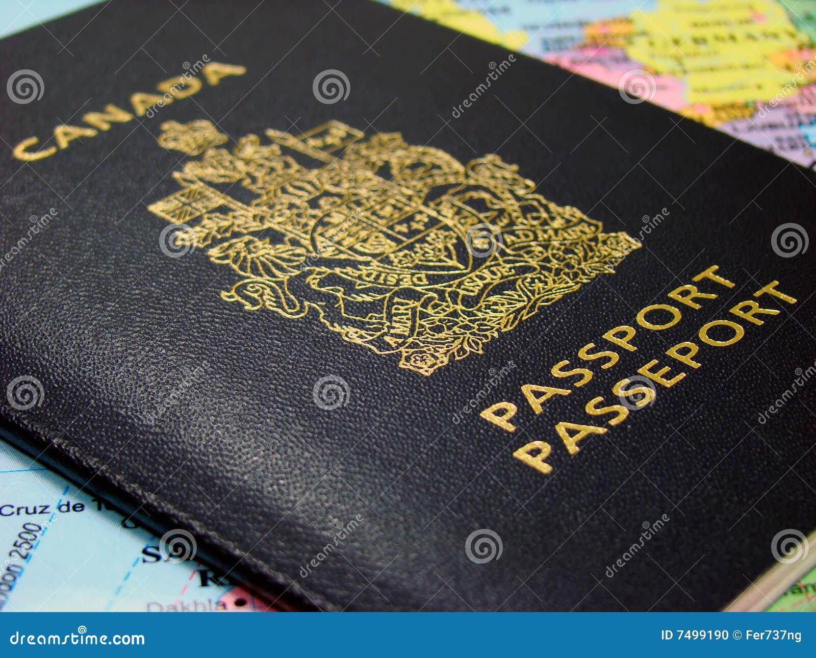 Pasaporte canadiense foto de archivo. Imagen de francés - 7499190