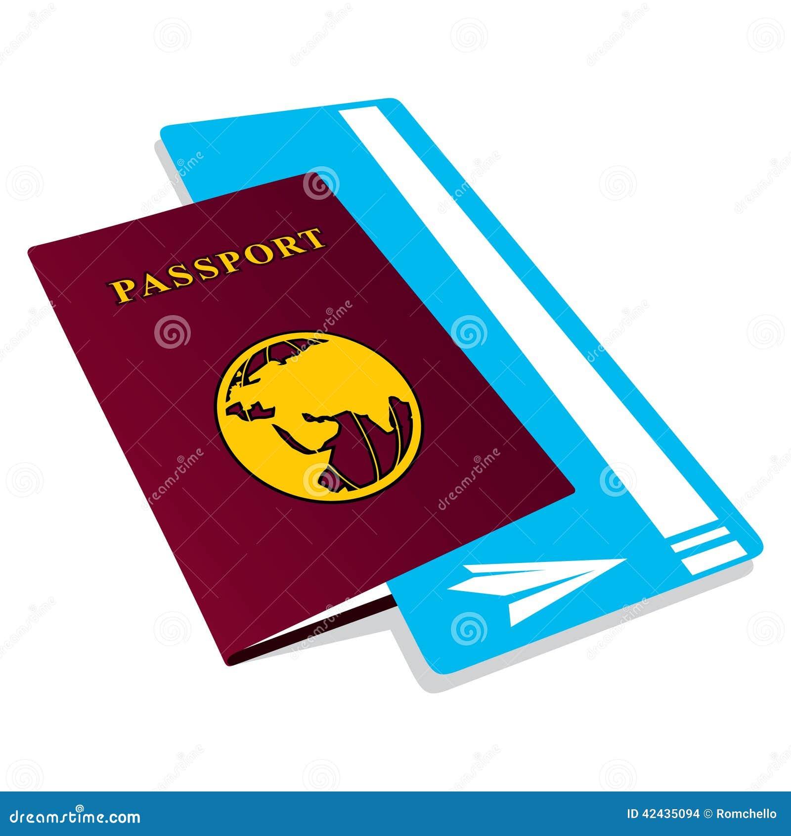 Pasaporte con los boletos