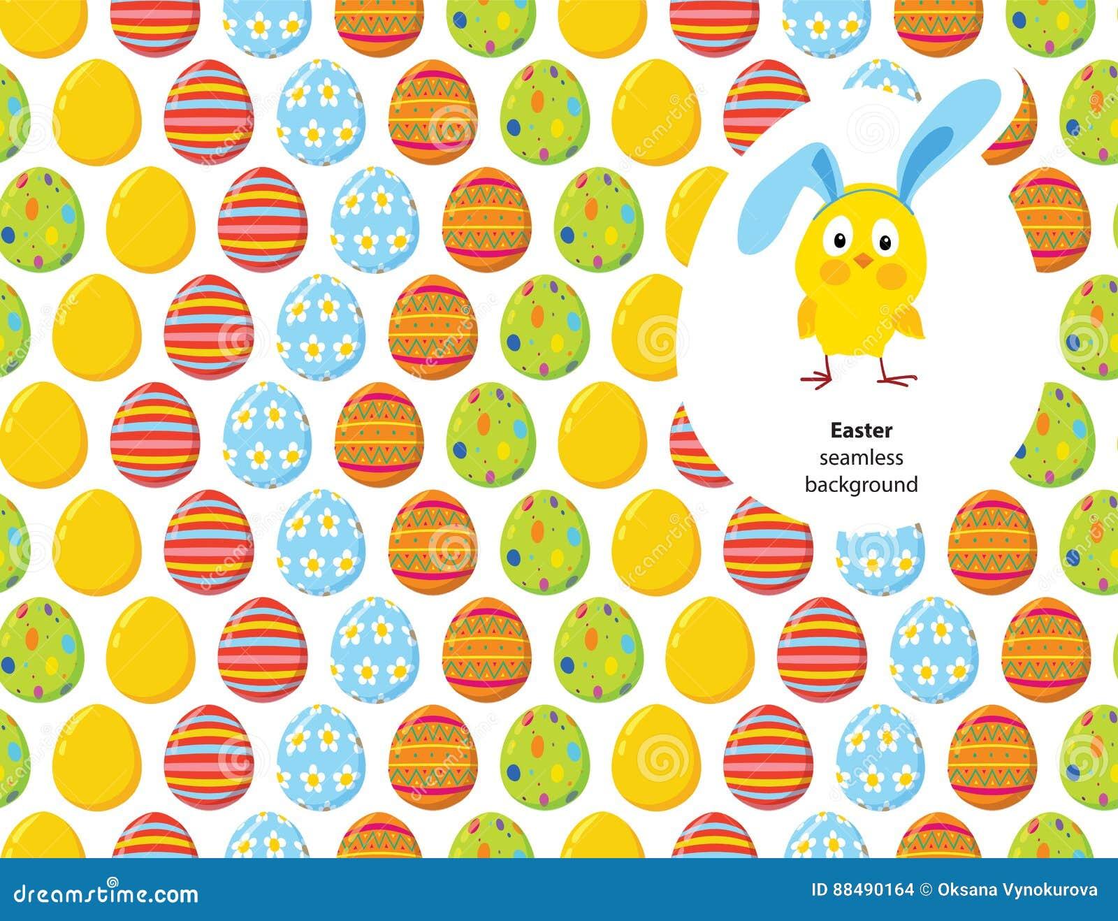 Pascua adornó el modelo inconsútil del vector de los huevos