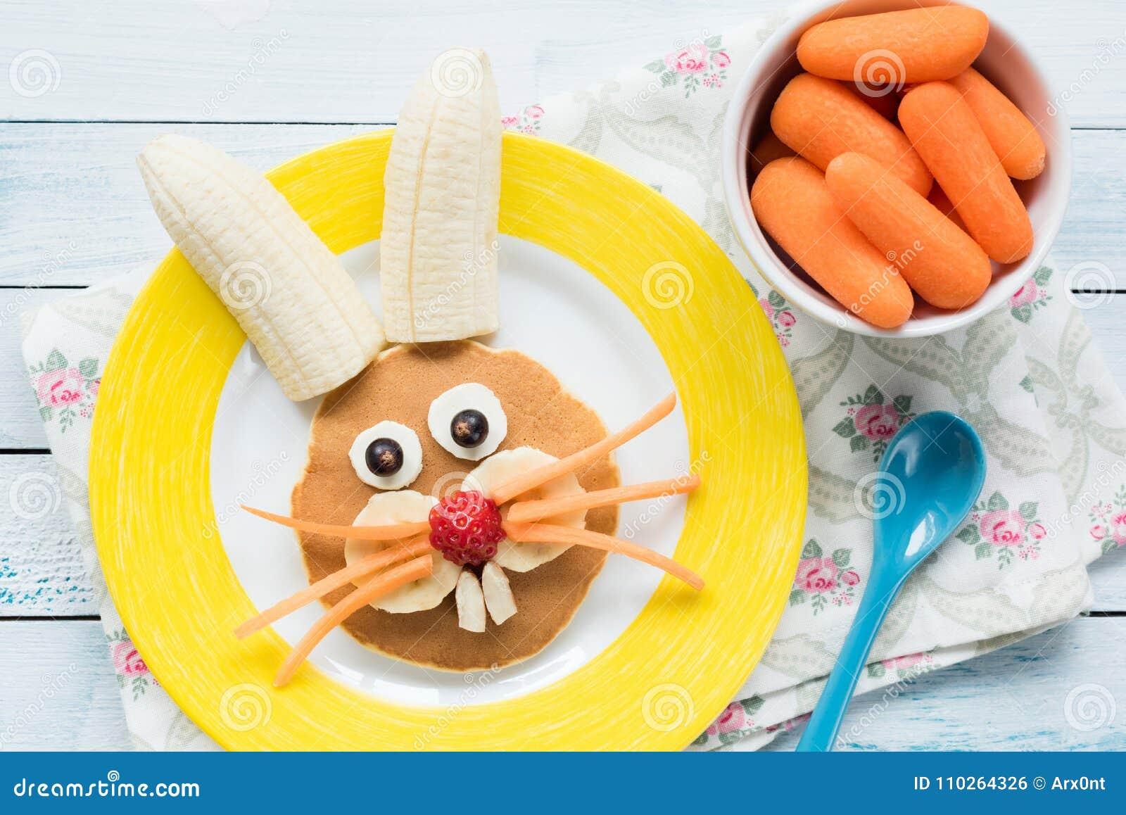 Pascua Bunny Pancake For Kids Comida divertida colorida para los niños