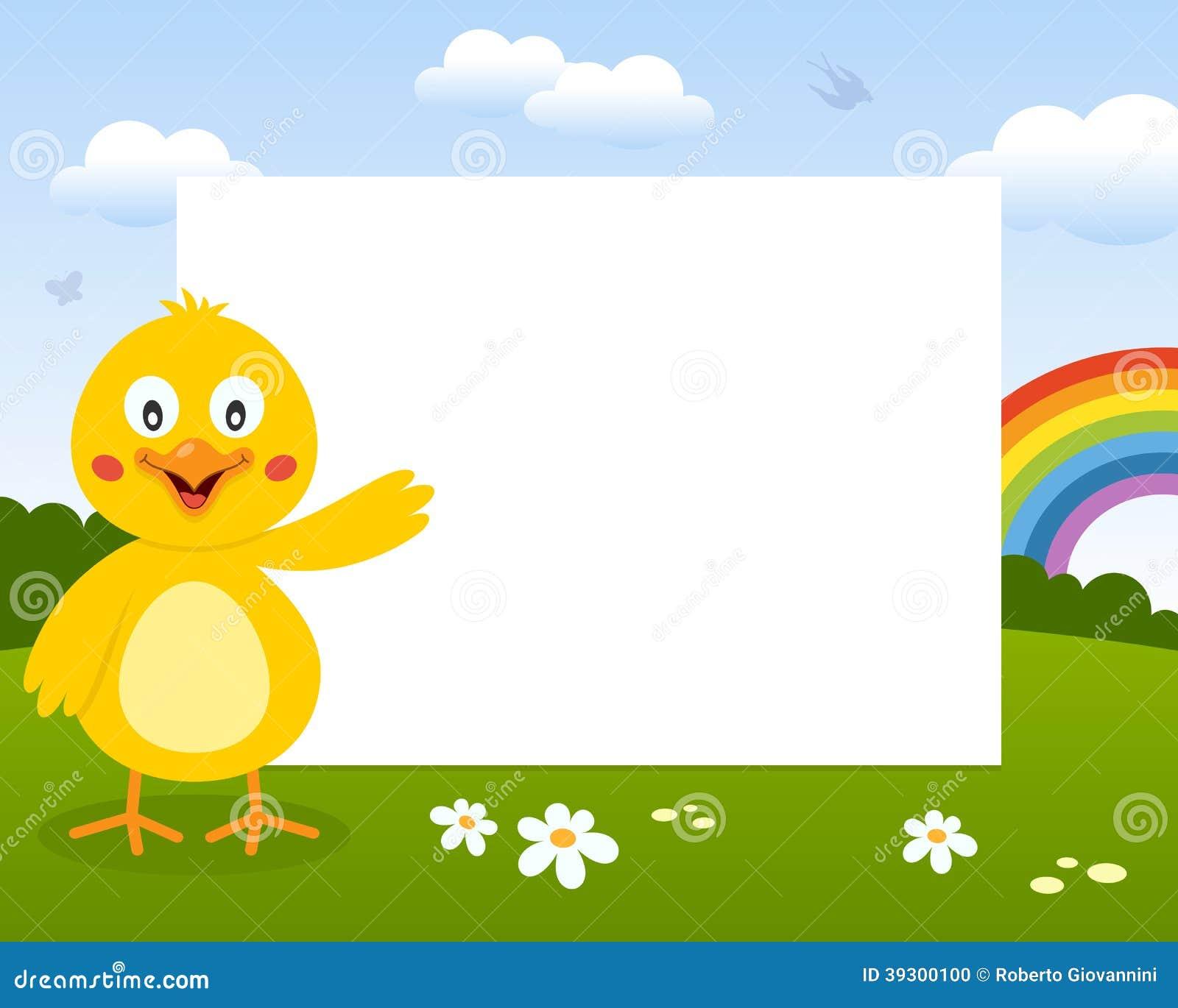 Pascua Chick Photo Frame lindo
