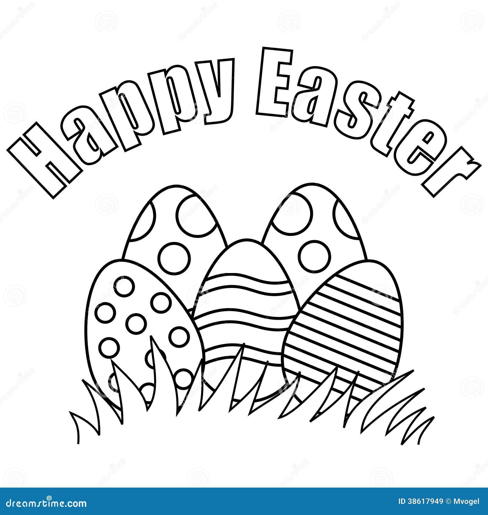 Pascua Feliz Ilustración Del Vector Ilustración De Huevo