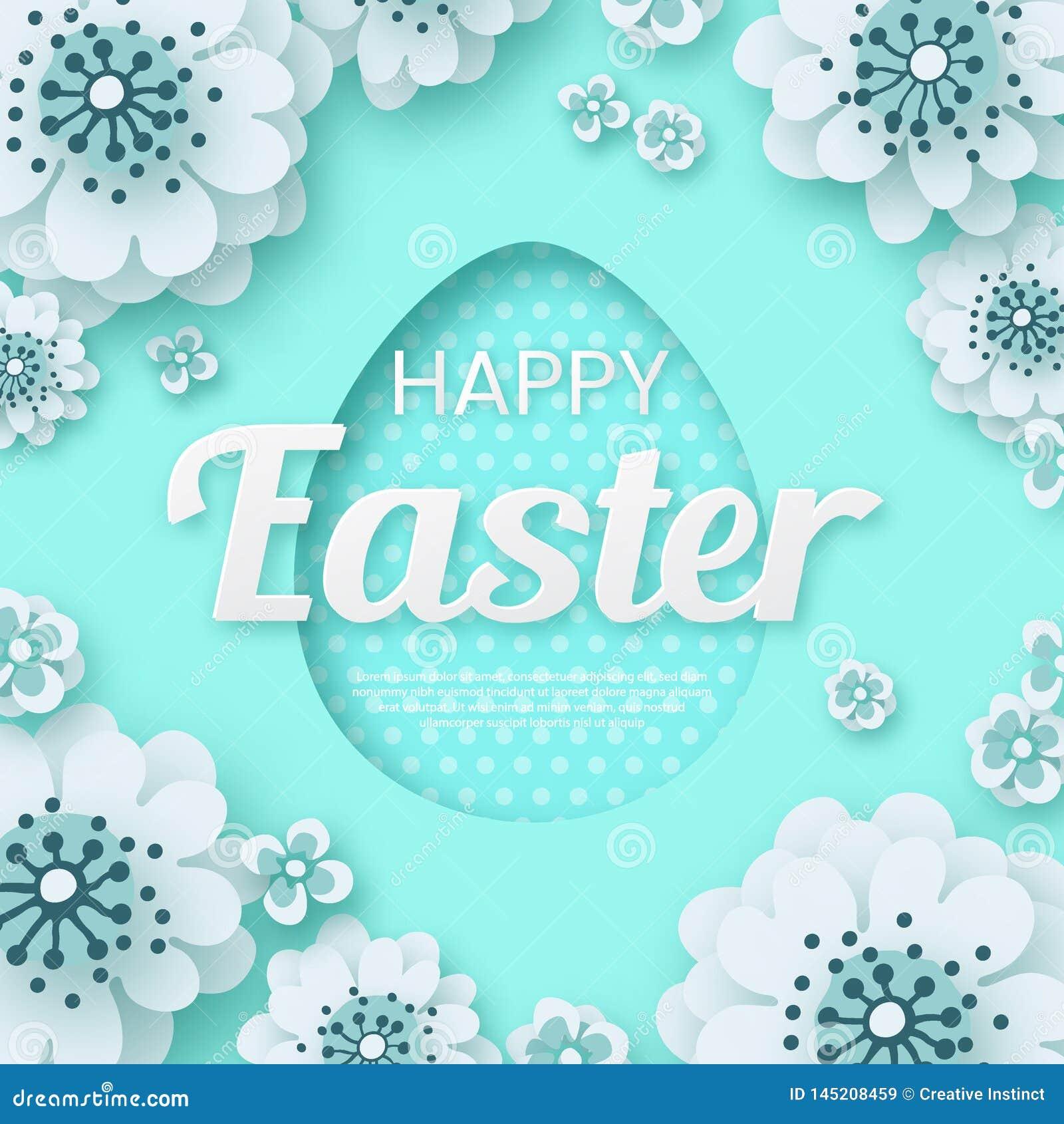 Pascua feliz, flor de corte creativa del papel EPS 10