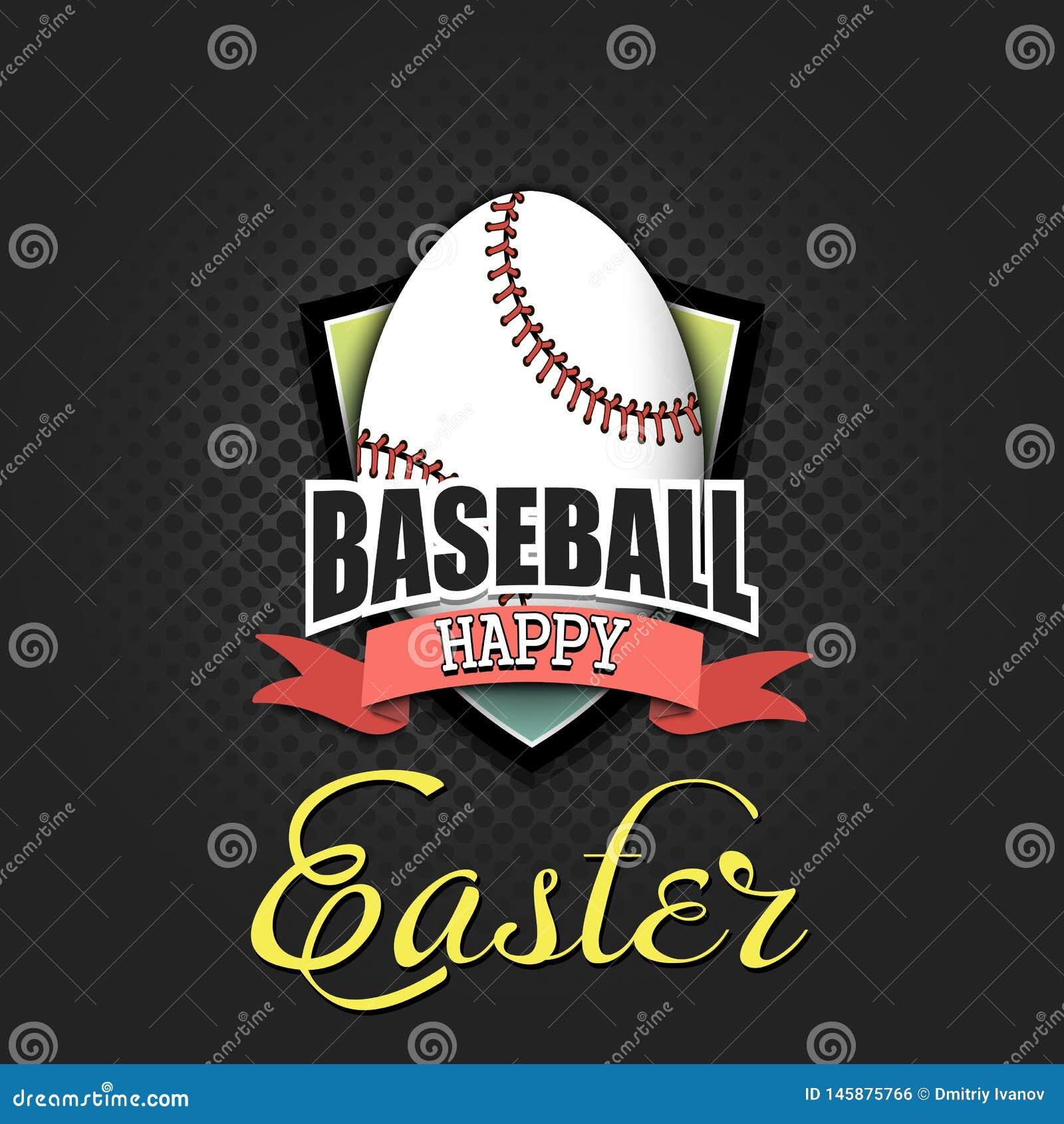 Pascua feliz Huevo bajo la forma de bola del b?isbol