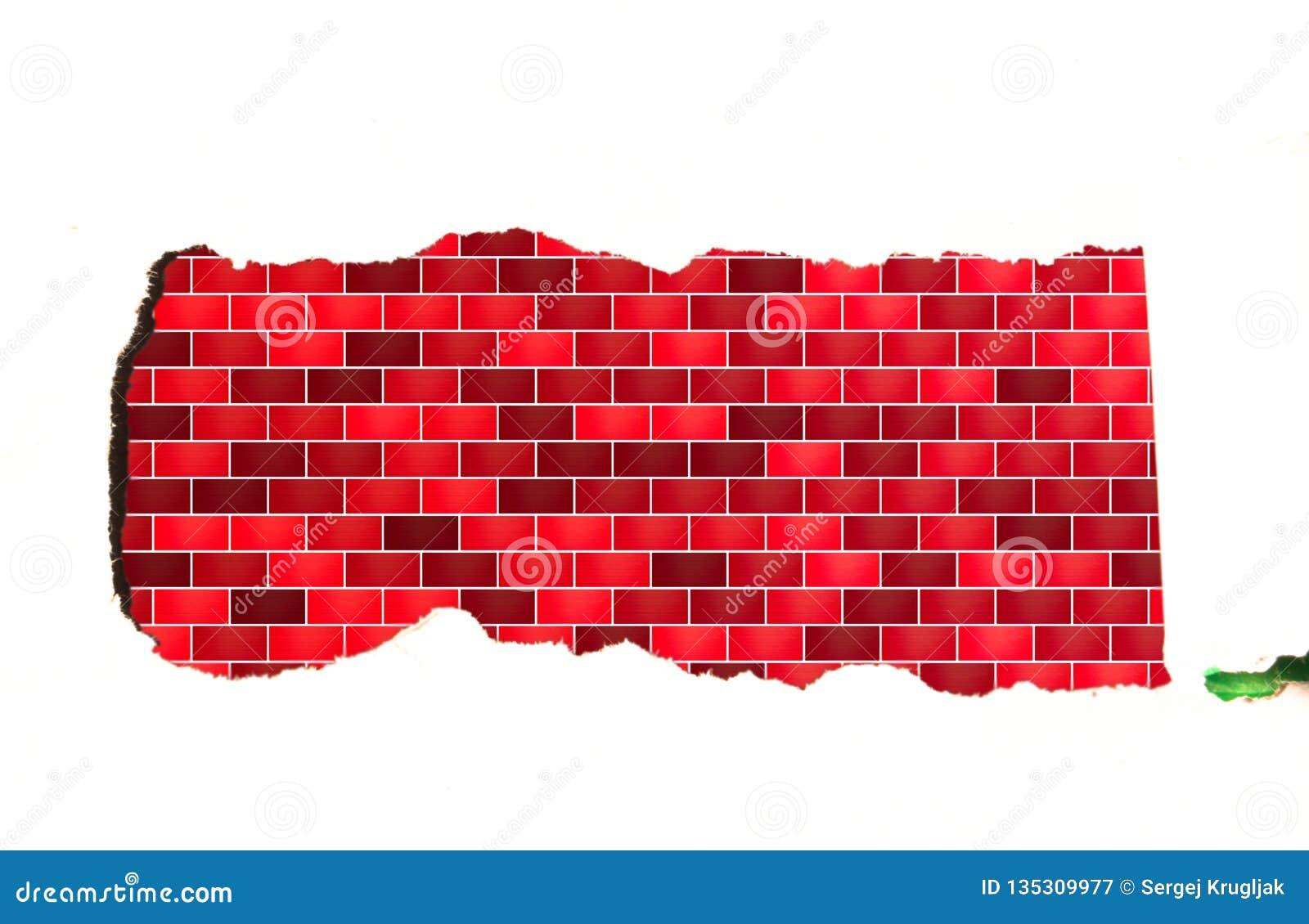 Pasek biała księga z błękitnym brickwork