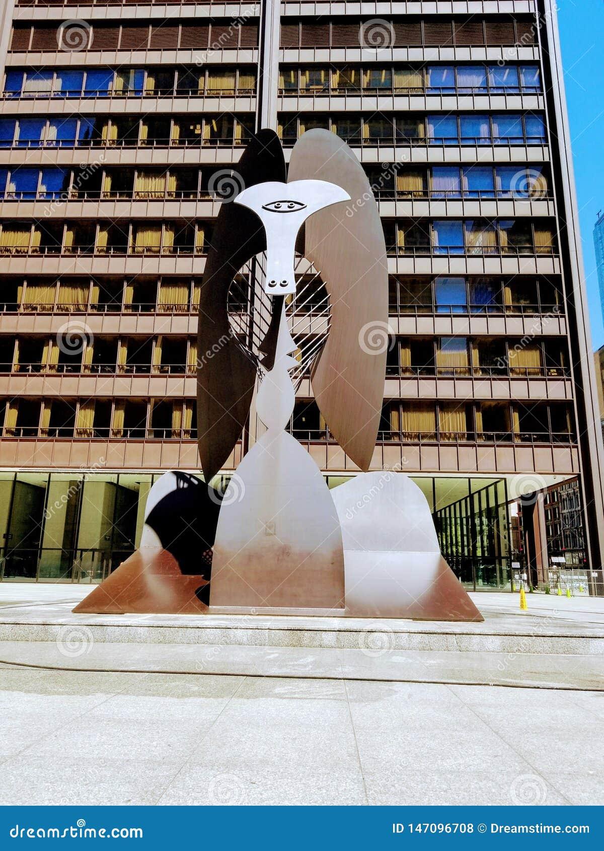 Paseo arquitect?nico en la ciudad de Chicago los E.E.U.U.