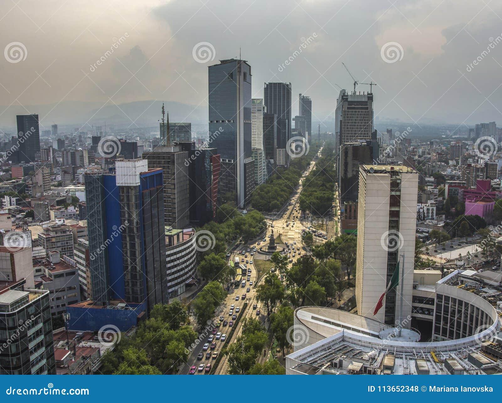 Paseo De Los Angeles Reforma Obciosujący, Meksyk -, Meksyk