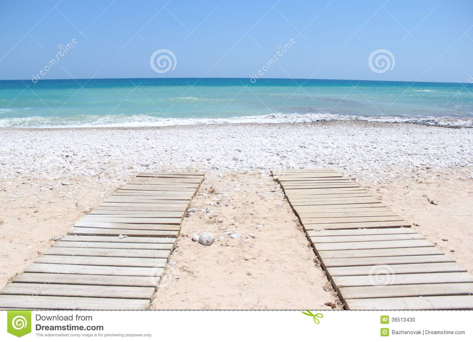 Paseo marítimo a la playa Portugal