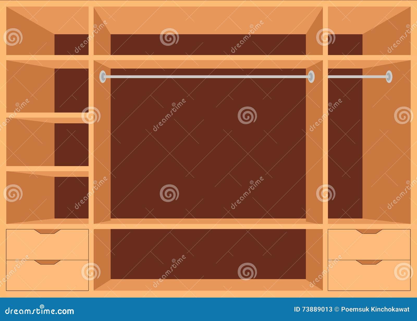 paseo plano del diseo en armario con los estantes with estantes diseo
