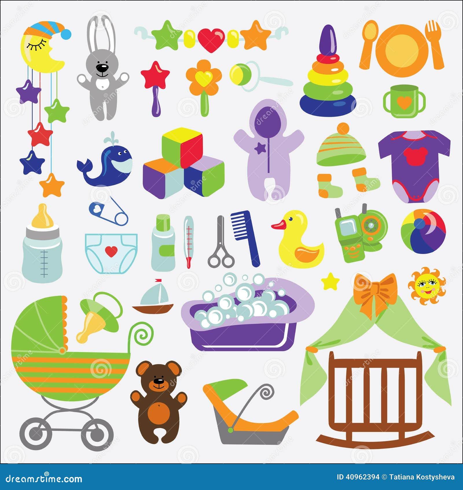 Pasgeboren Babypunten Geplaatst Inzameling De Douche Van De Baby