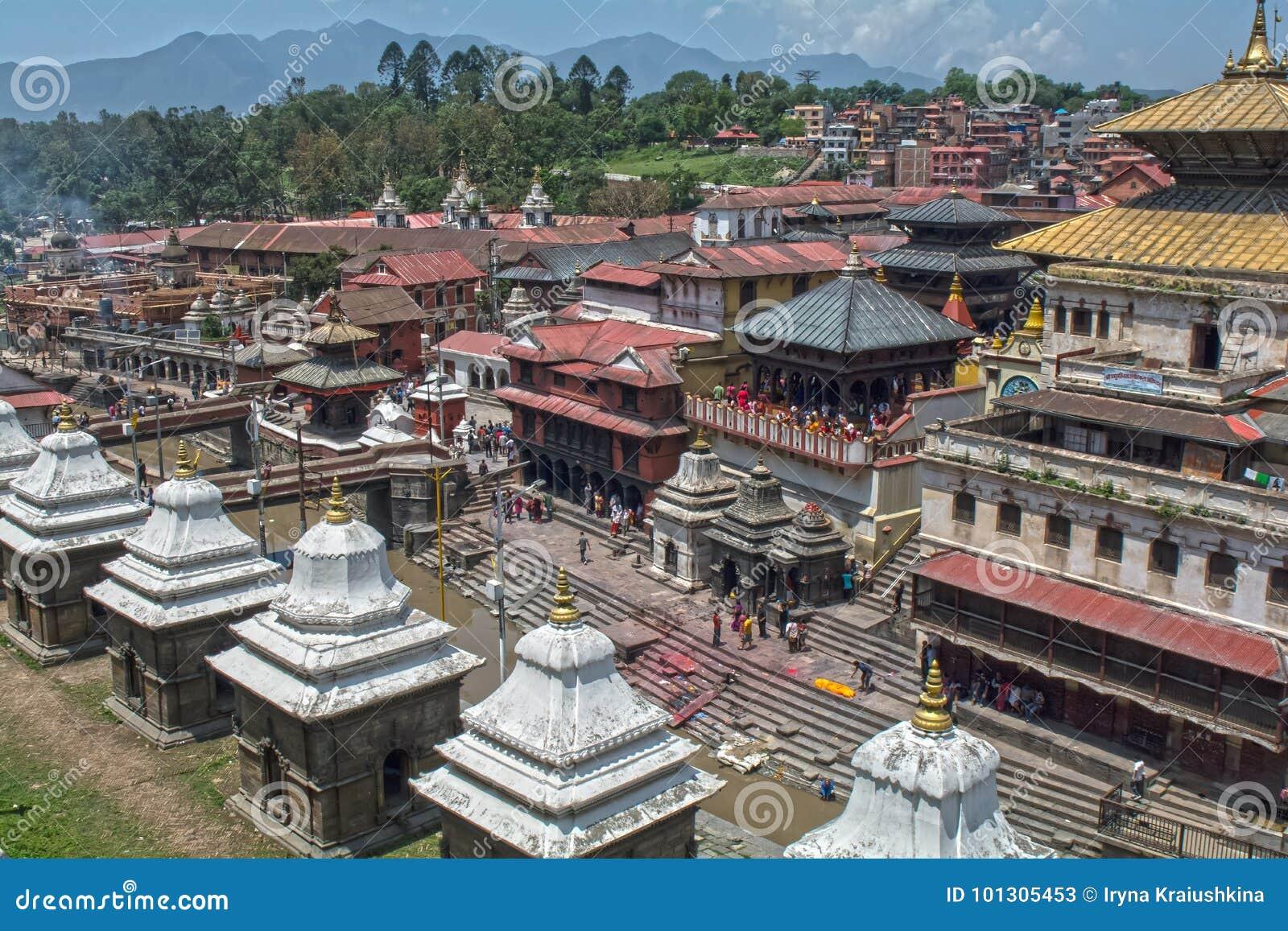 Pashupatinath加德满都尼泊尔寺庙