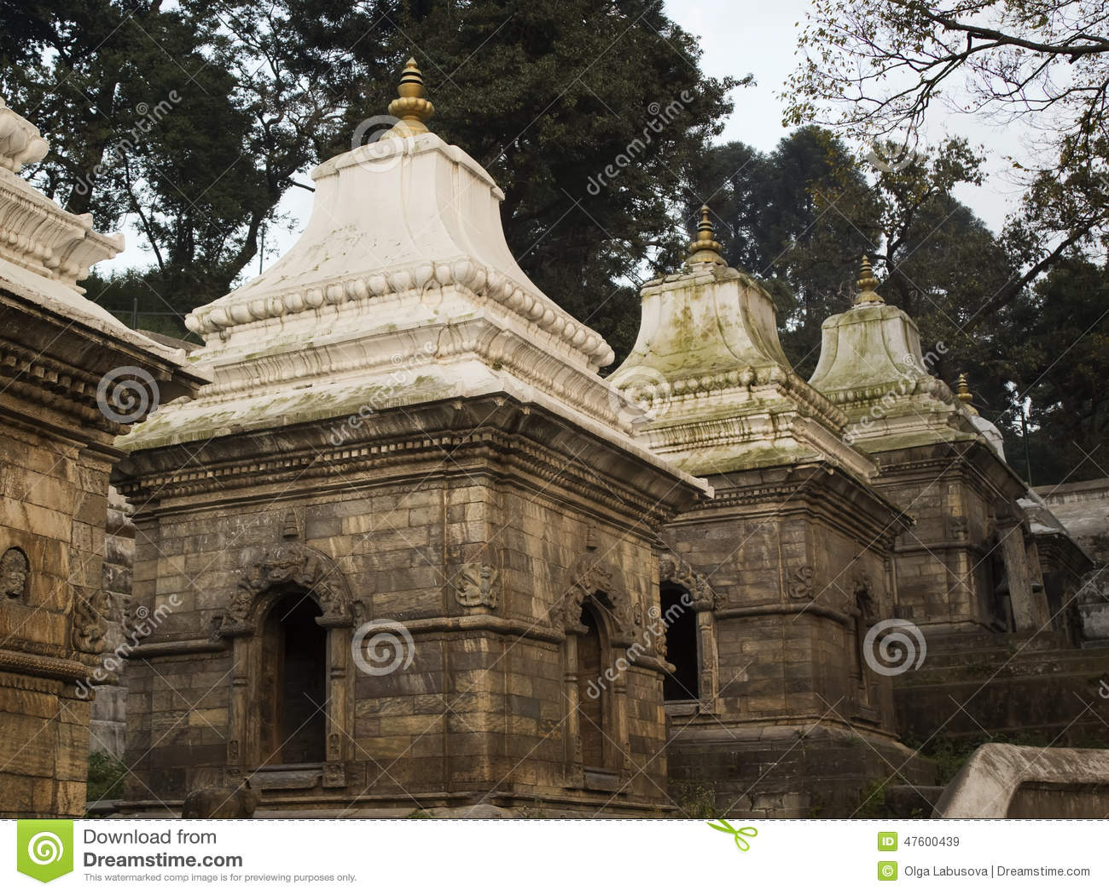 Pashupatinath temple complex on Bagmati River in Kathmandu Valley, Nepal