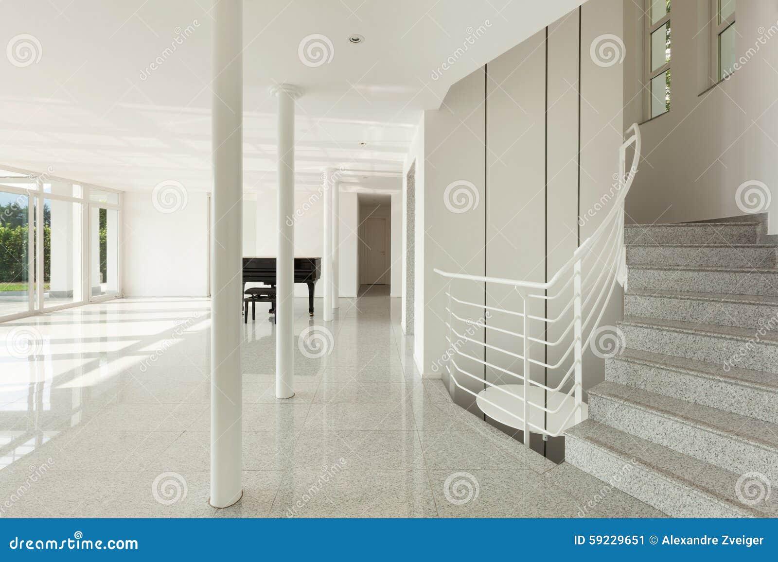 Download Pasillo Con El Piano De Cola Imagen de archivo - Imagen de residencial, nuevo: 59229651
