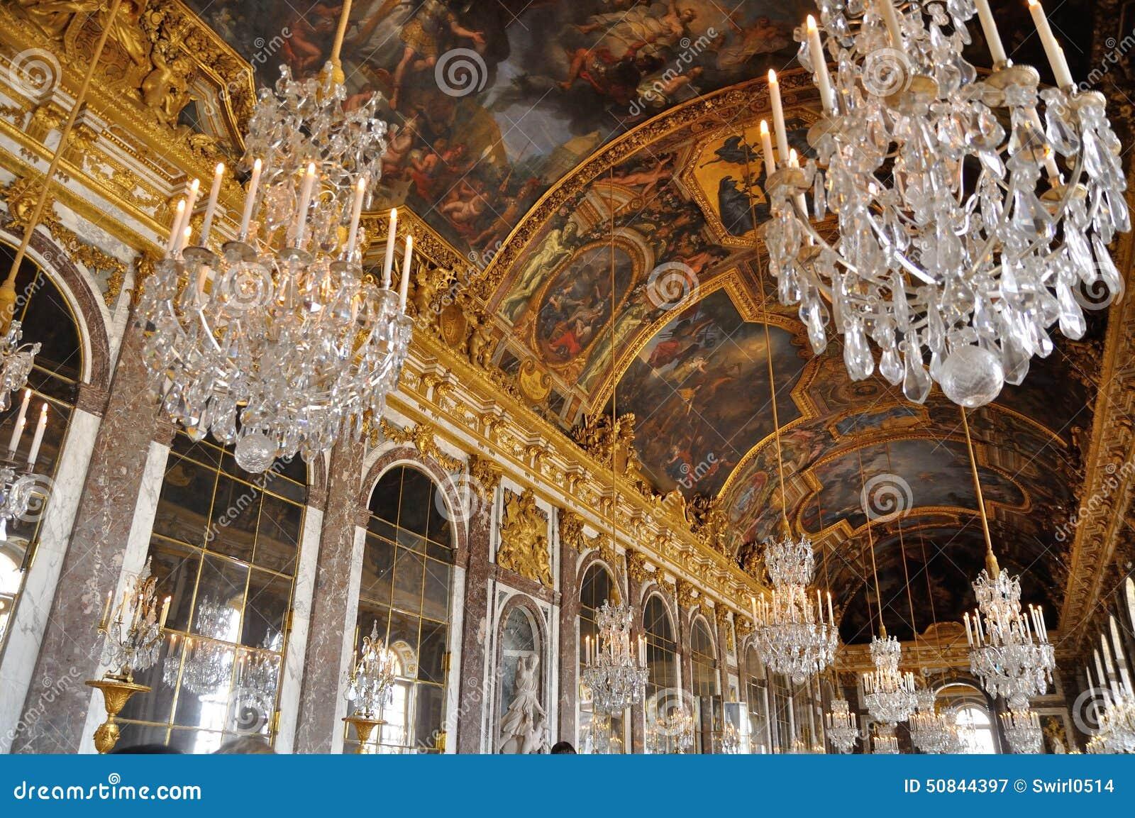 Pasillo de espejos, castillo francés de Versalles
