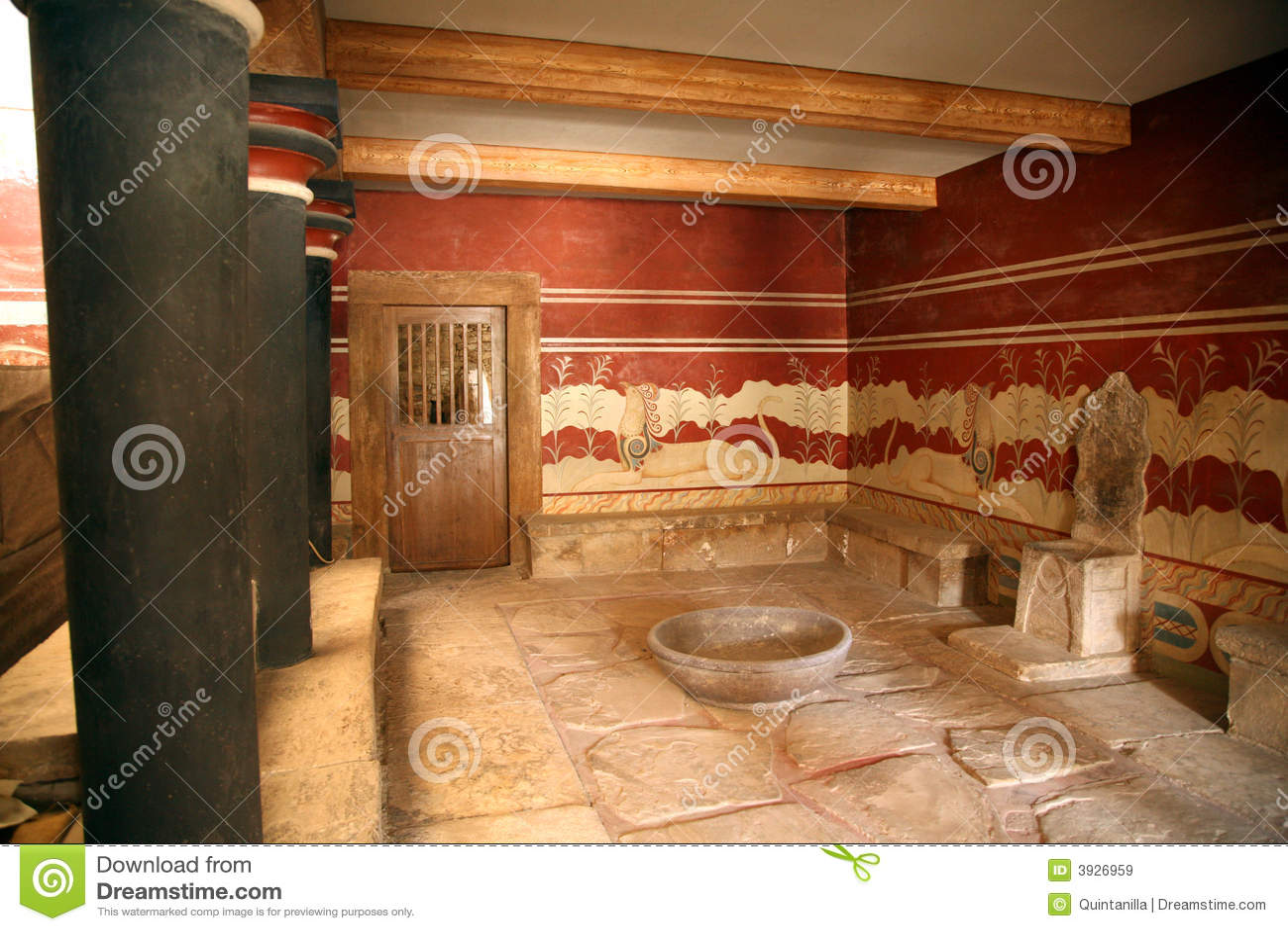 Pasillo del trono de los knossos de Crete