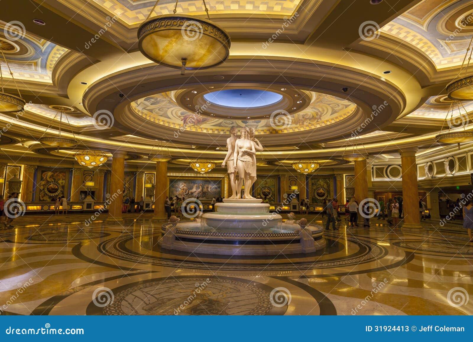 Pasillo en Las Vegas, nanovoltio del Caesars Palace el 26 de junio de 2013