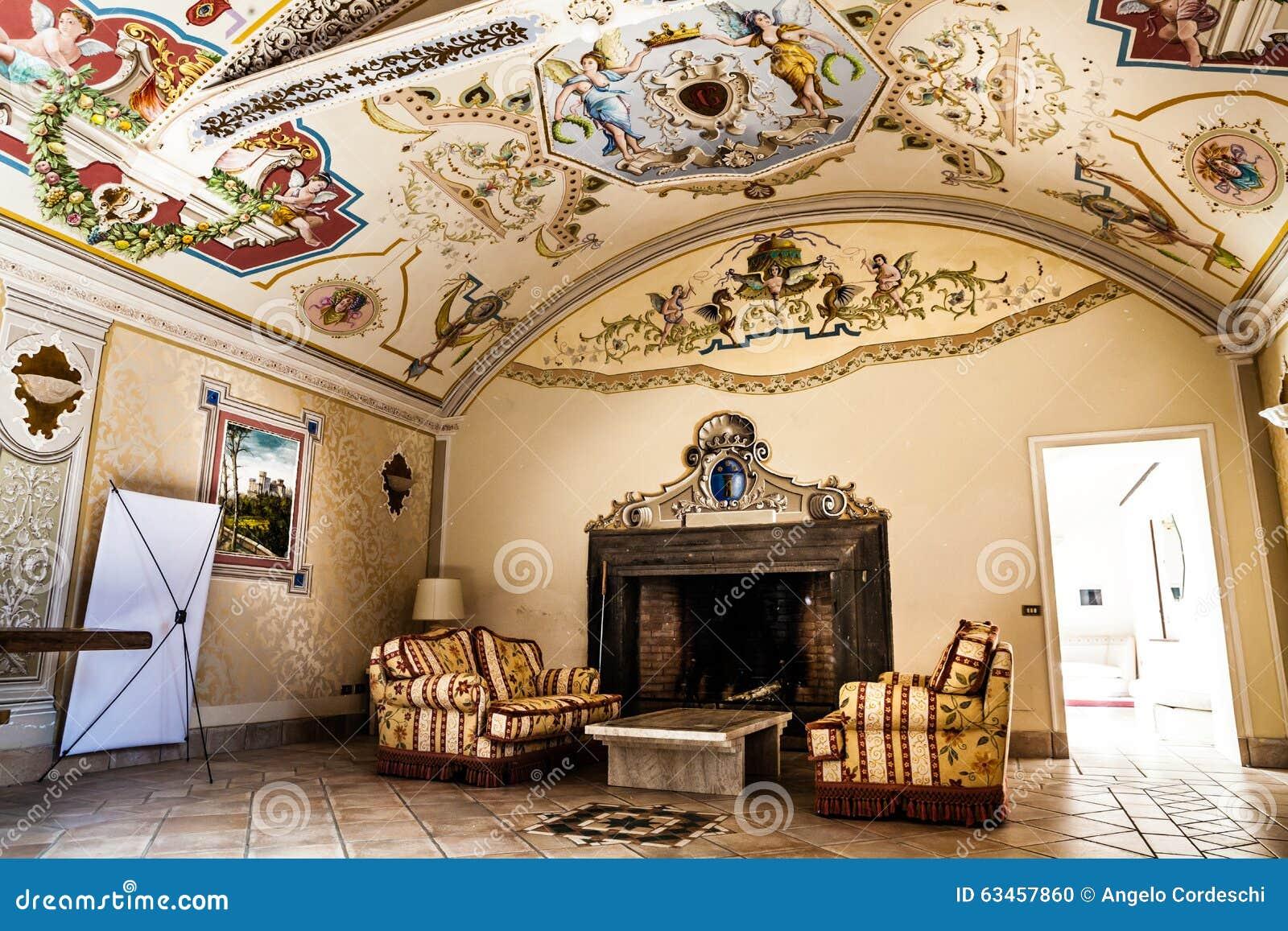 Pasillo Hist Rico Del Siglo Muebles De Lujo Frescos Del Techo  # Muebles Historicos