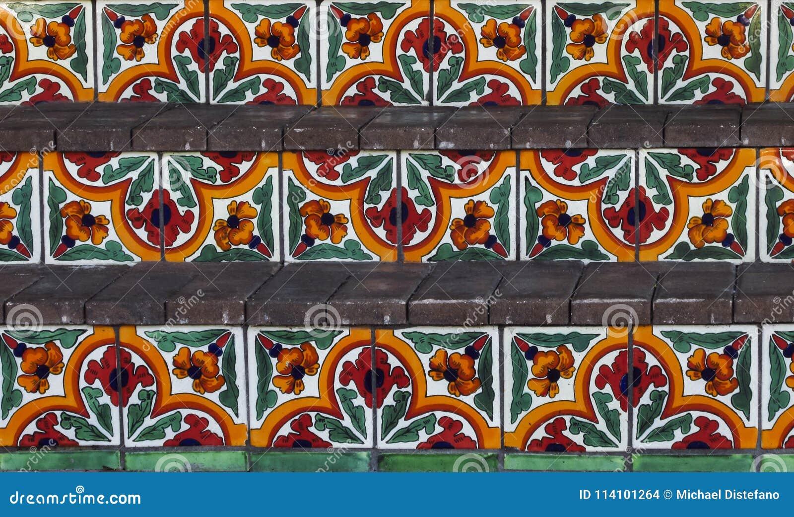 Pasos españoles pintados a mano de la teja