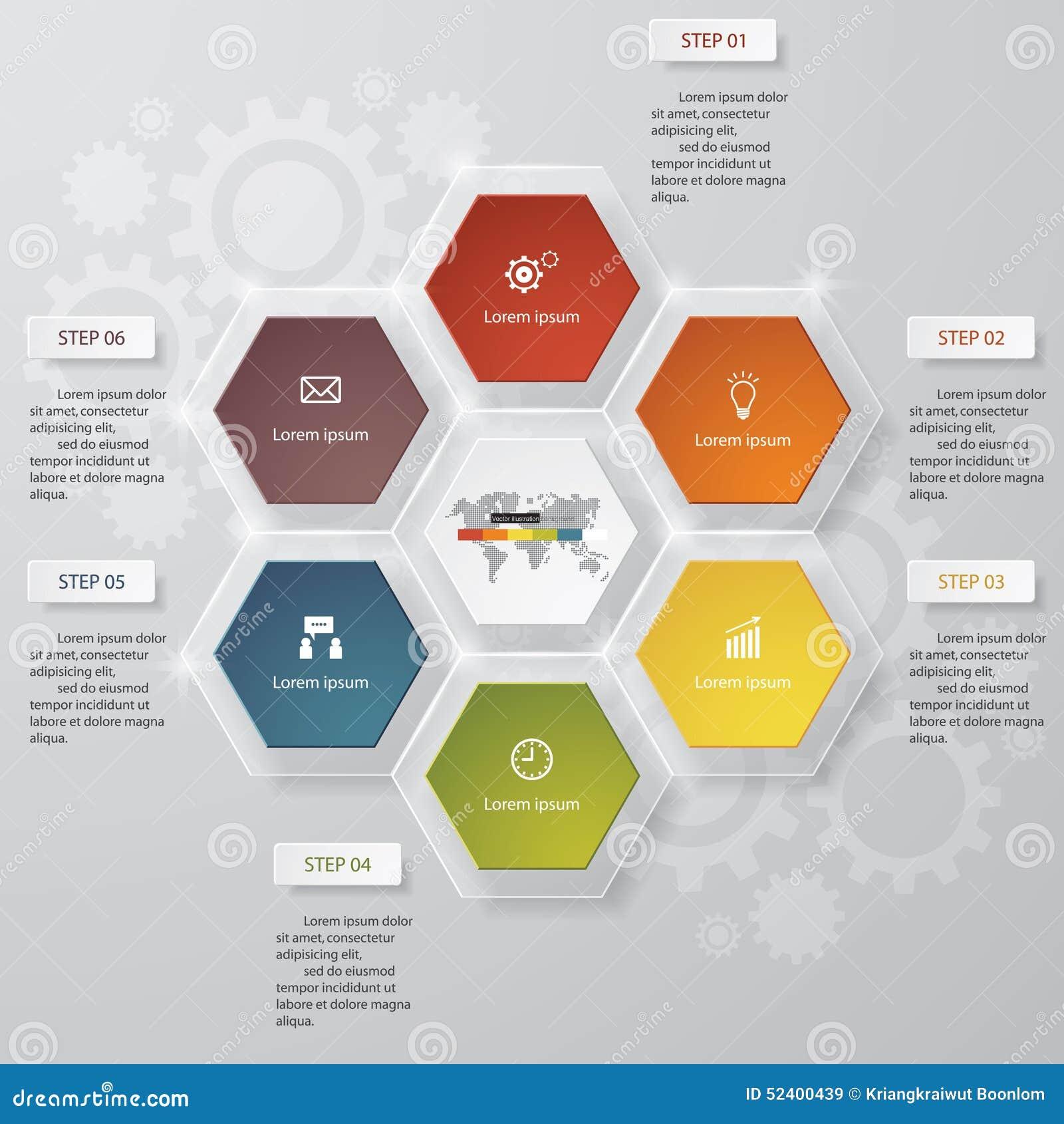 6 pasos trazan la plantilla/el gráfico o la disposición del sitio web