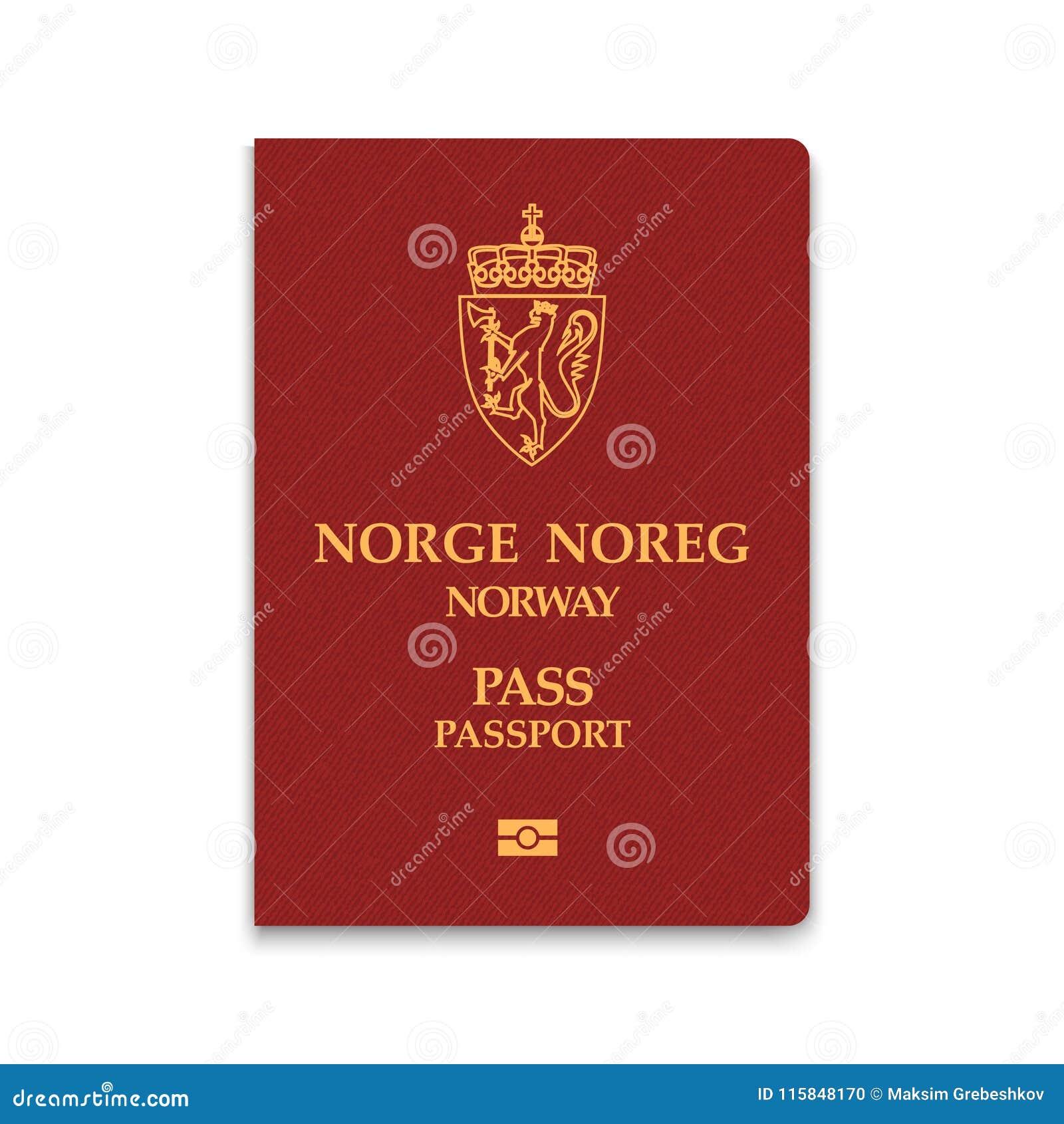 Paspoort van de vectorillustratie van Noorwegen