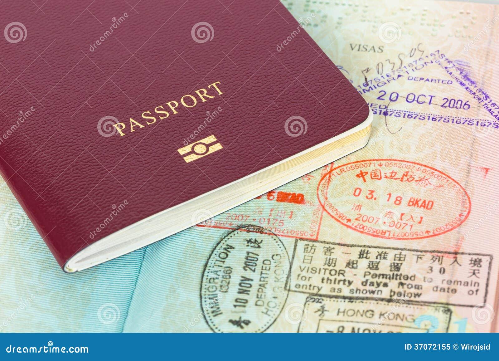 Pass- och visuminvandringstämplar