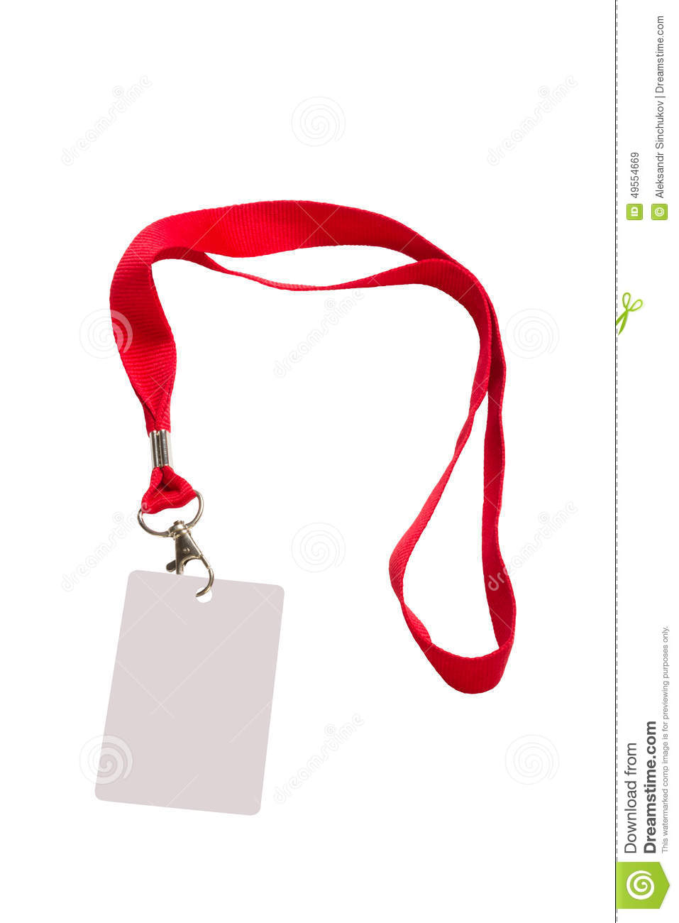 Pass with red strap