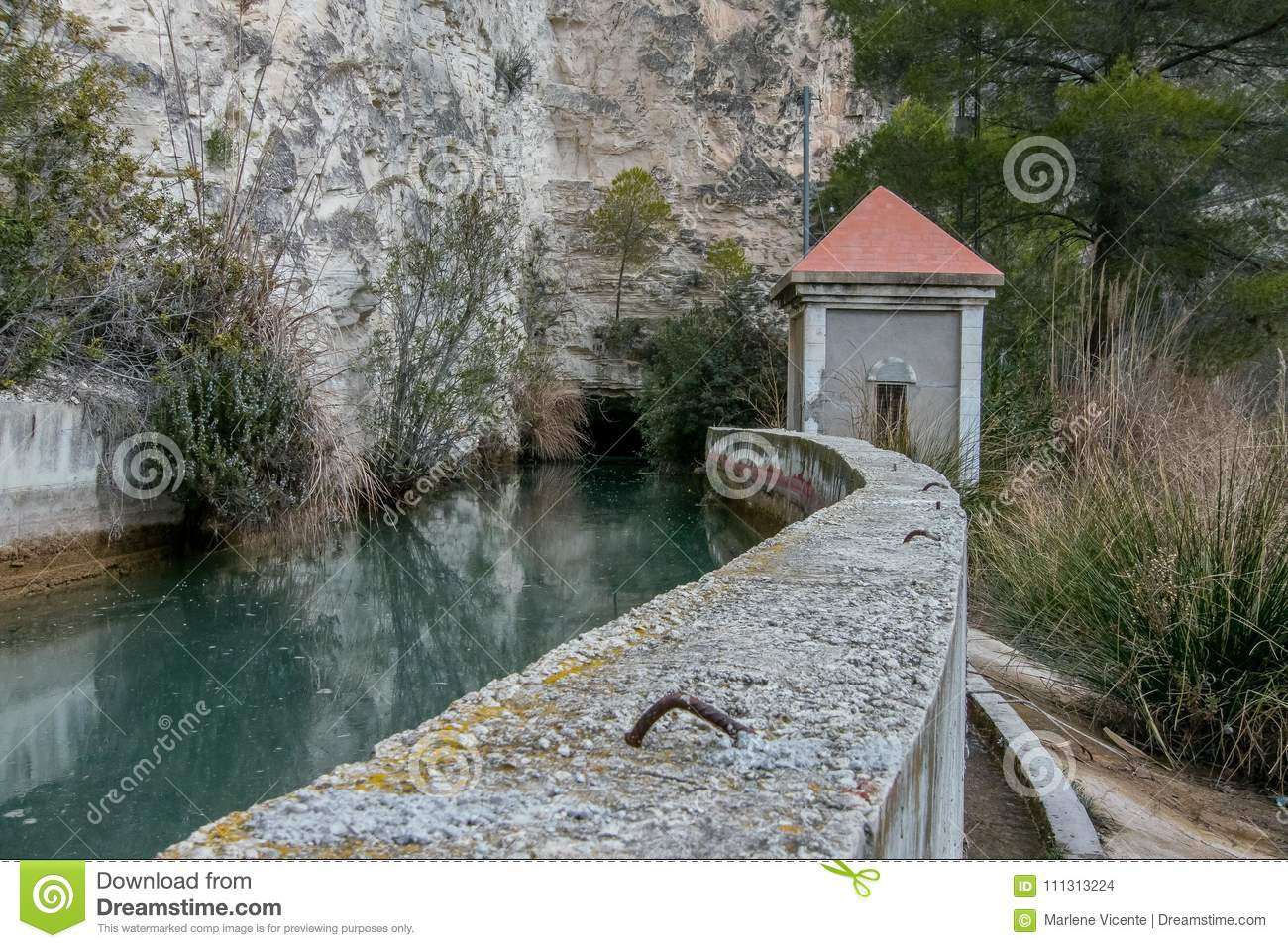 Pass by the small dam