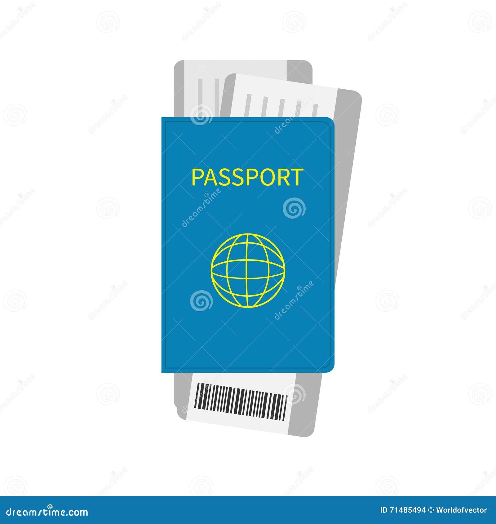 Pass und zwei bringen Bordkartekartenikone mit Barcode zur Sprache Getrennt Weißer Hintergrund Reise- und Ferienkonzept Flaches D